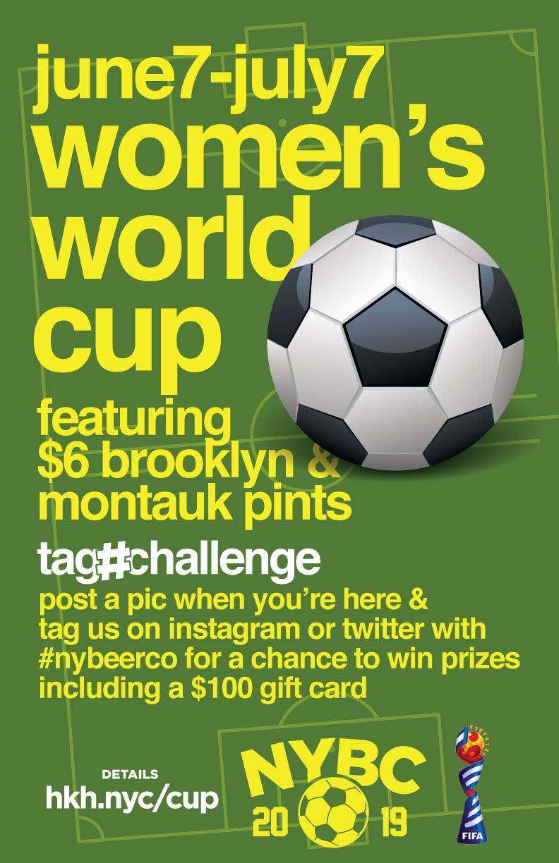 Bars showing Women's World Cup enar me NYC