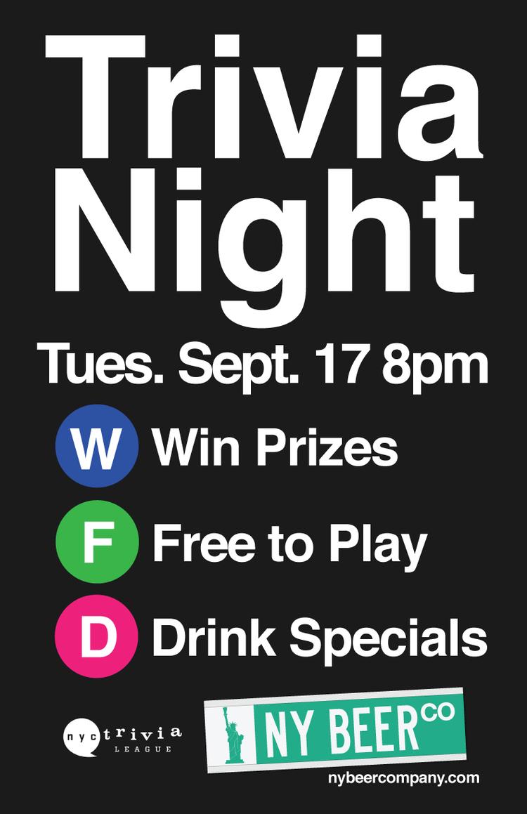nyc trivia night special tuesday