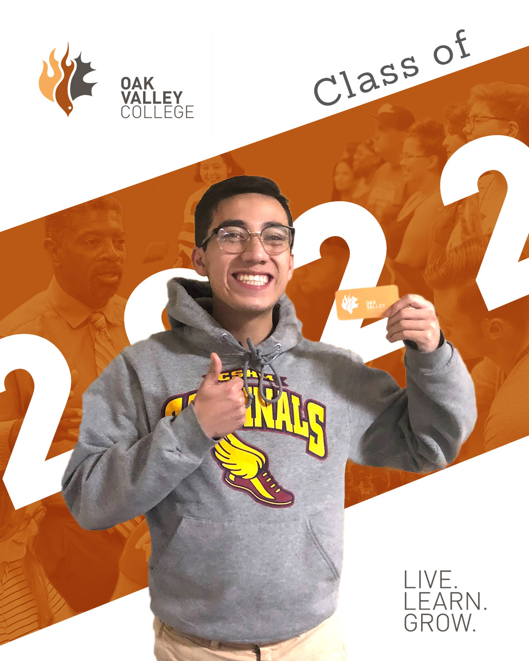 Marco is one of 32 incoming freshman who will make up Oak Valley's class of 2022.