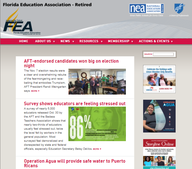 FEA Retired - They have member benefits too!