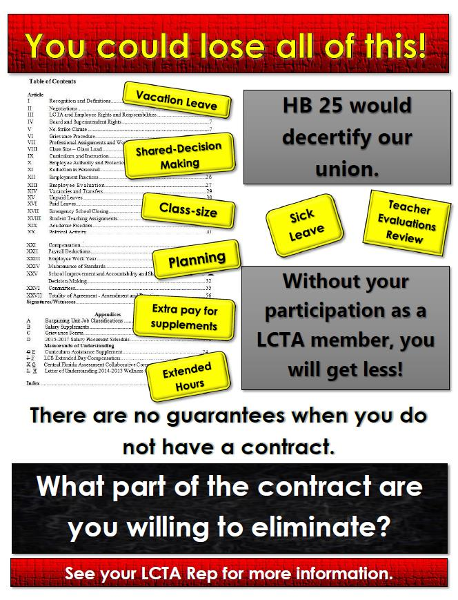 Learn about HB 25, the union decertification bill. - January 22, 2018, at 5:30 pm in the 3rd-floor conference room at the FEA building, 213 S. Adams StreetThose who attend will be entered into a drawing to have one of the FEA officers shadow them for a day at school!