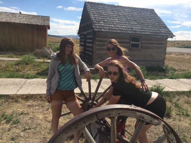 Whitney, Olivia, and Lindsay in Utah, the wild wild west.