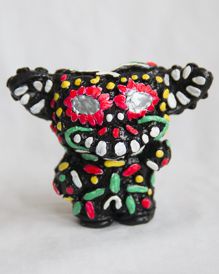 "Gizmuerto, 2014; acrylic on resin, hand-casted & hand-painted; 4""; Edition of 1"