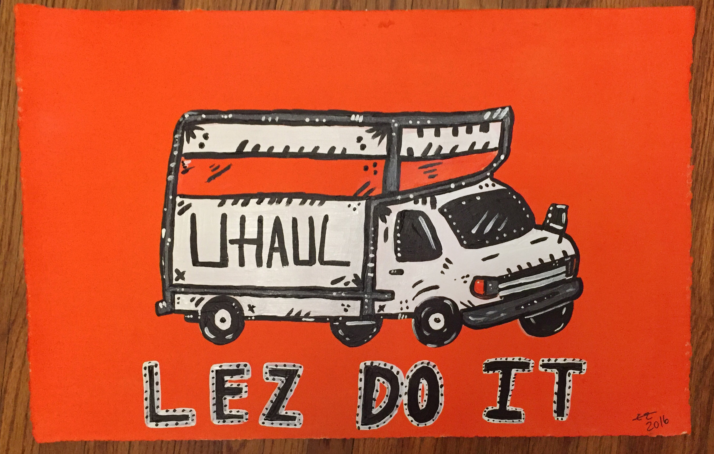Lez Do It, 2016, acrylic on paper