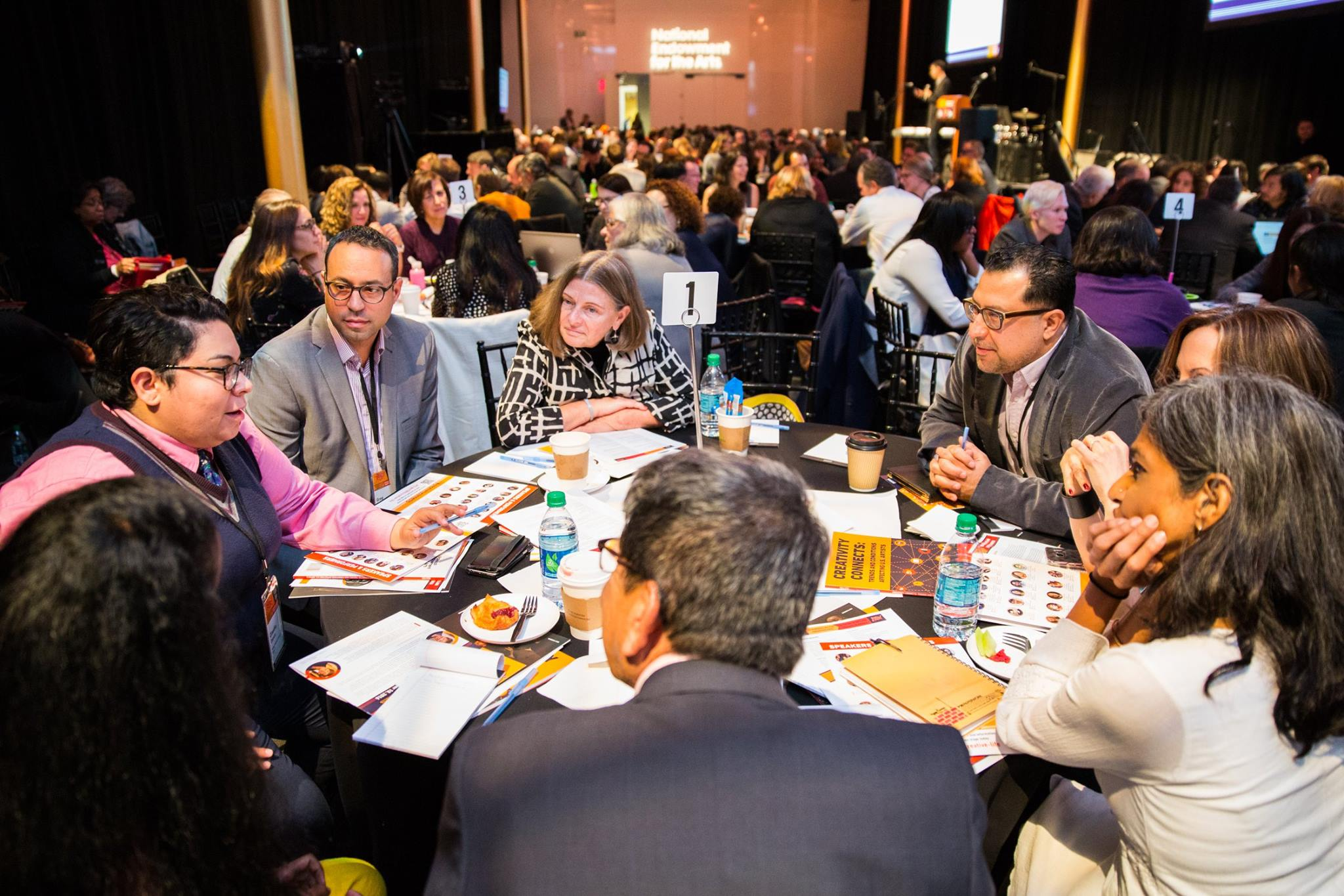 National Endowment for the Arts. In Pursuit of the Creative Life: The Future of Arts + Creativity. Convening participants take part in conversation following panel discussions. Photo courtesy of Yassine El Mansouri.