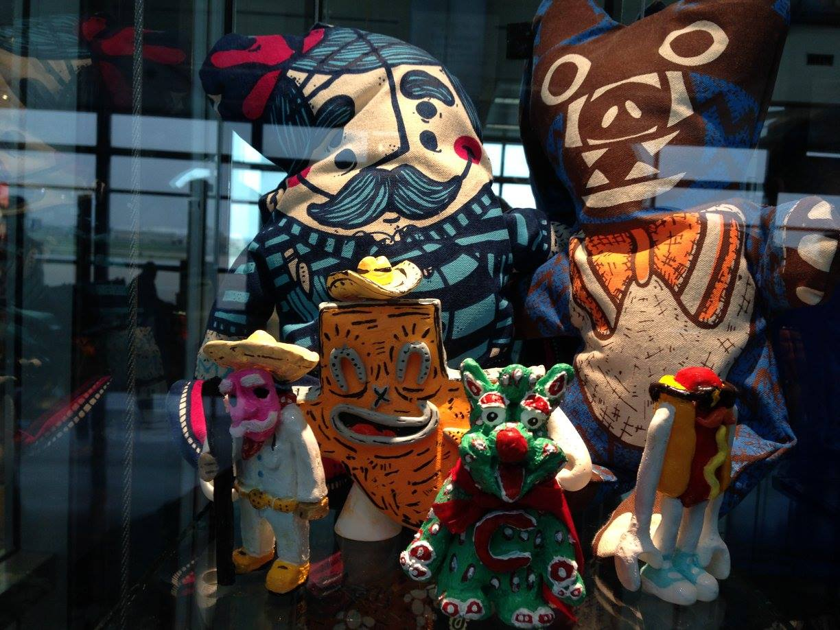 A Variety of Art from Around the Austin Area , Austin-Bergstrom International Airport, February 4-May 5. (as part of Puro Chingón Collective)