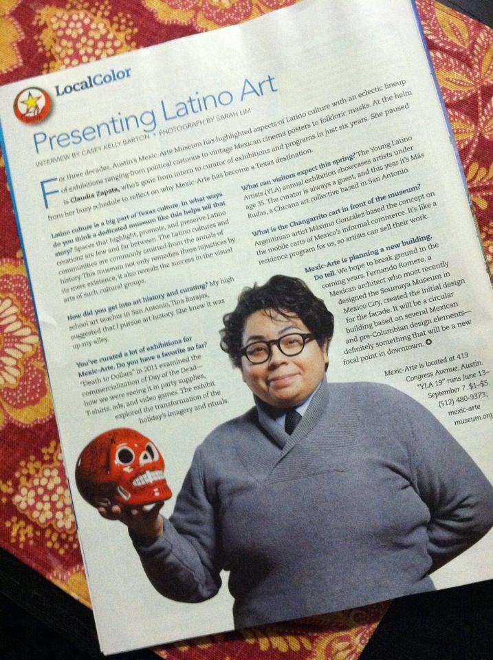 "Casey Kelly-Barton, ""Presenting Latino Art,""  Texas Journey , March/April 2014. 60"