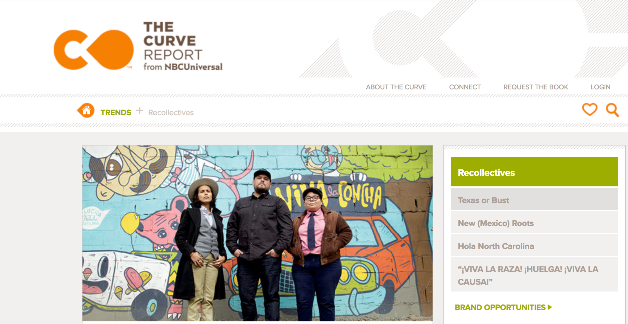 """""""Curve Report: Recollectives,""""  NBC Universal . http://thecurvereport.com/article/recollectives/"""