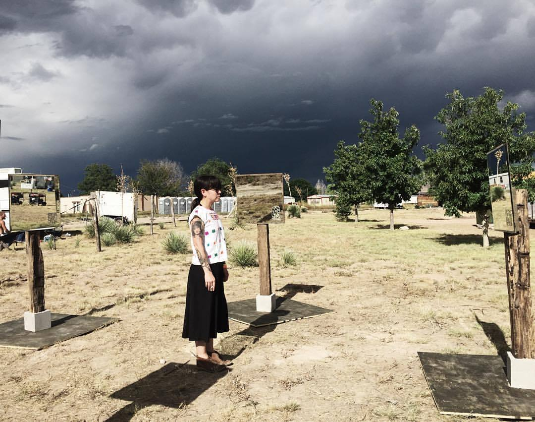 Puro Chingón Collective,  You're Not,  2015; On-site installation, various materials; Marfa, Texas (Trans-Pecos Festival). Photo courtesy of Francisco Garcia.