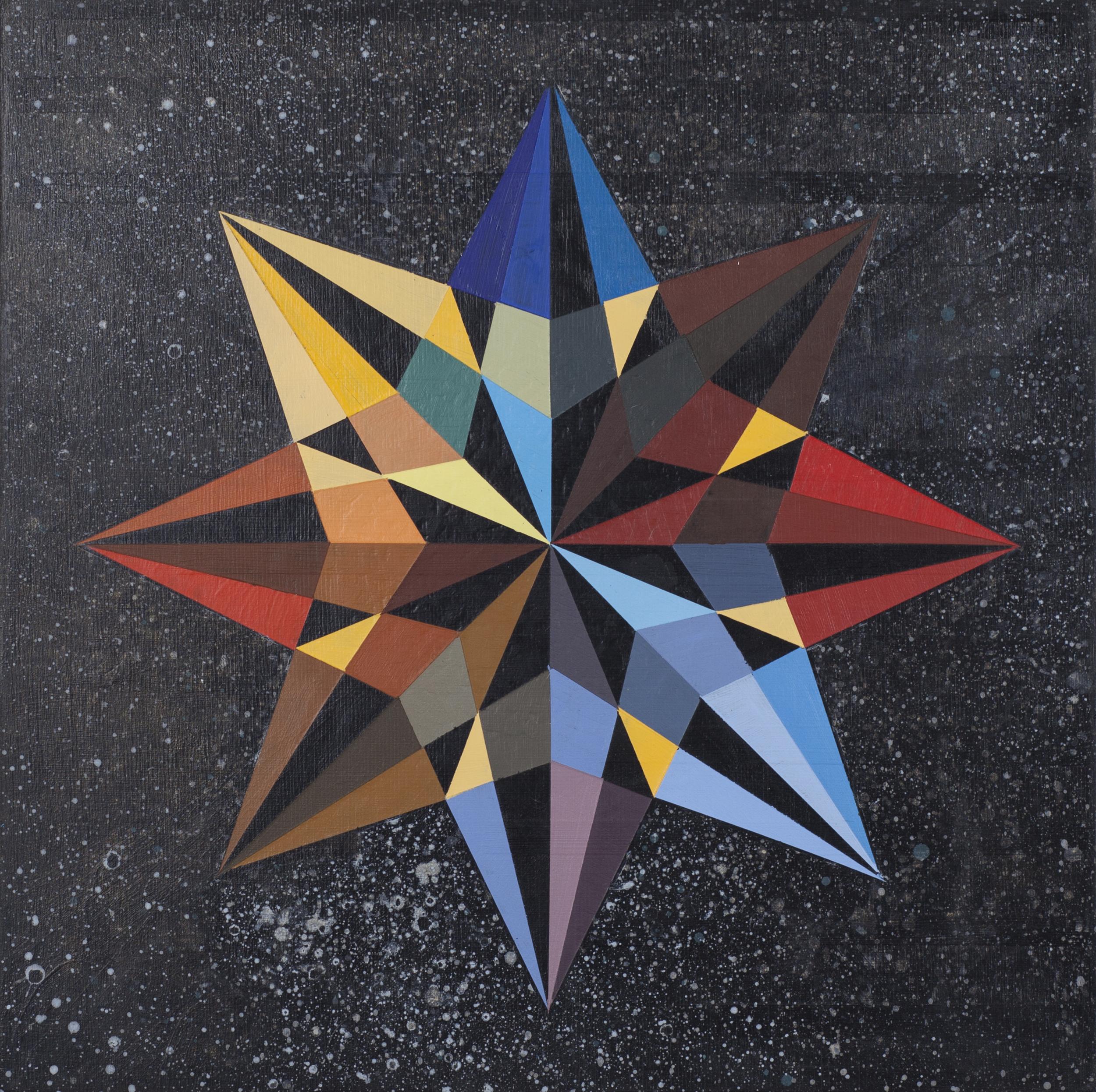 """Portal, 18""""x18"""", acrylic on wood panel"""