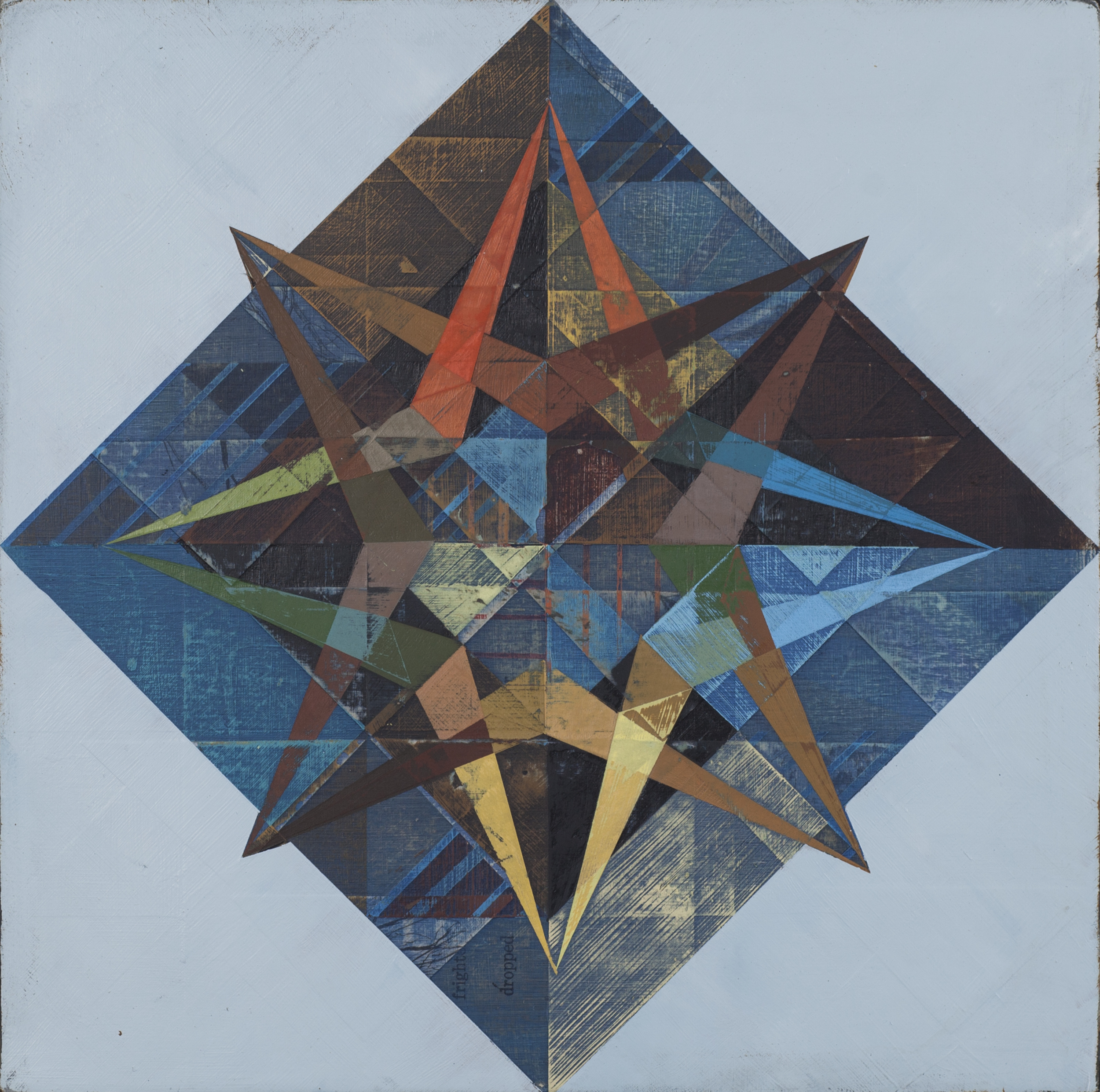 "Compass, 18""x18"", acrylic on wood panel, 2013"