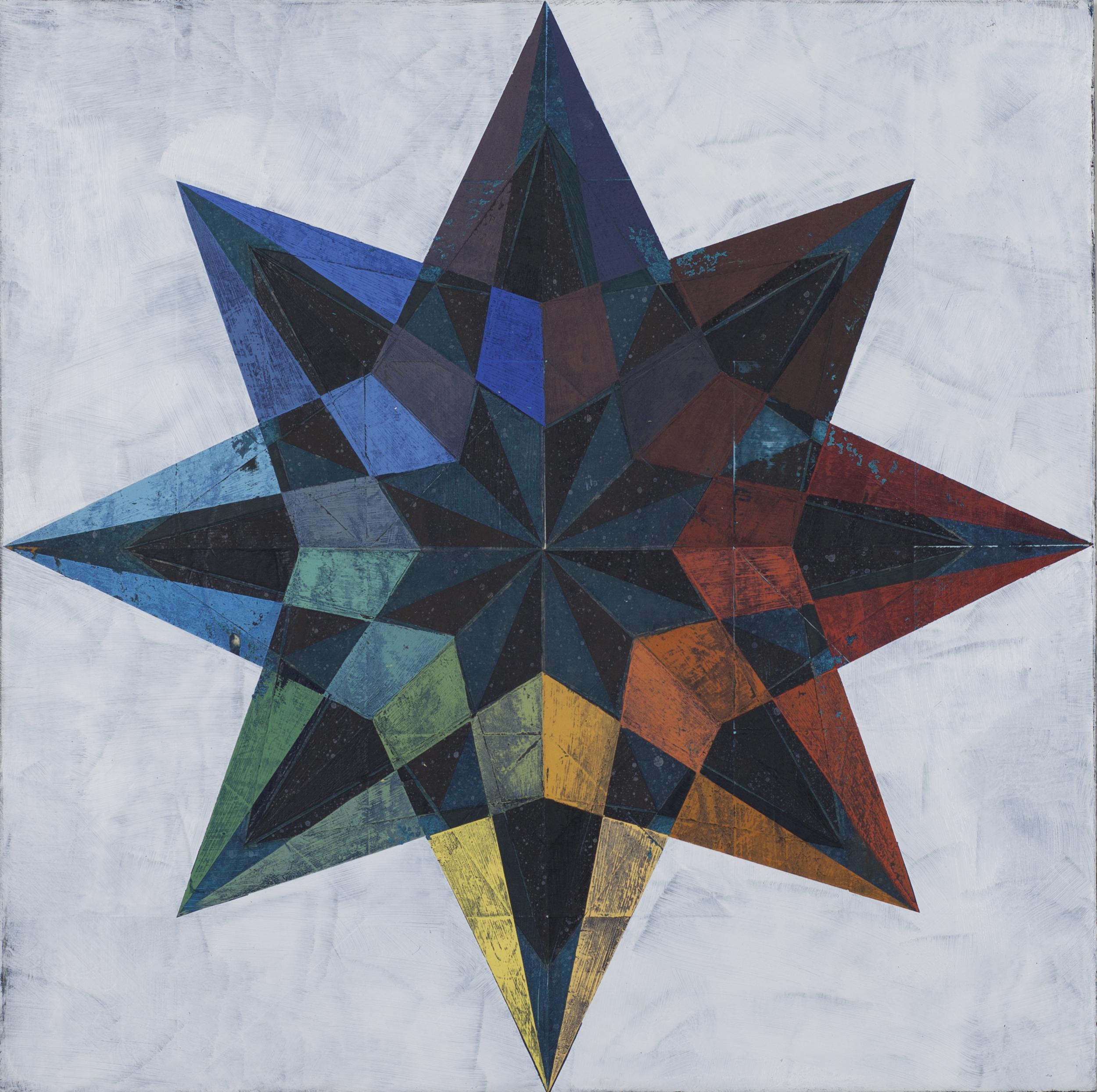"""Luminosity, acrylic on wood panel, 18""""x18"""""""