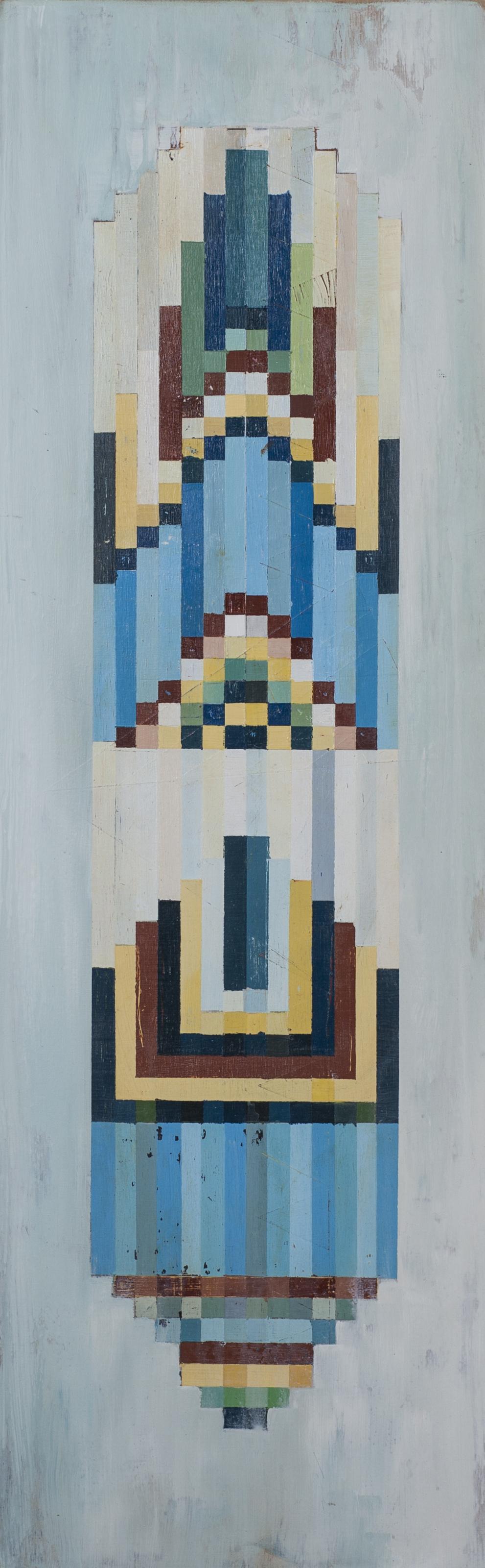 """Northern, 12""""x36"""", acrylic on wood panel"""