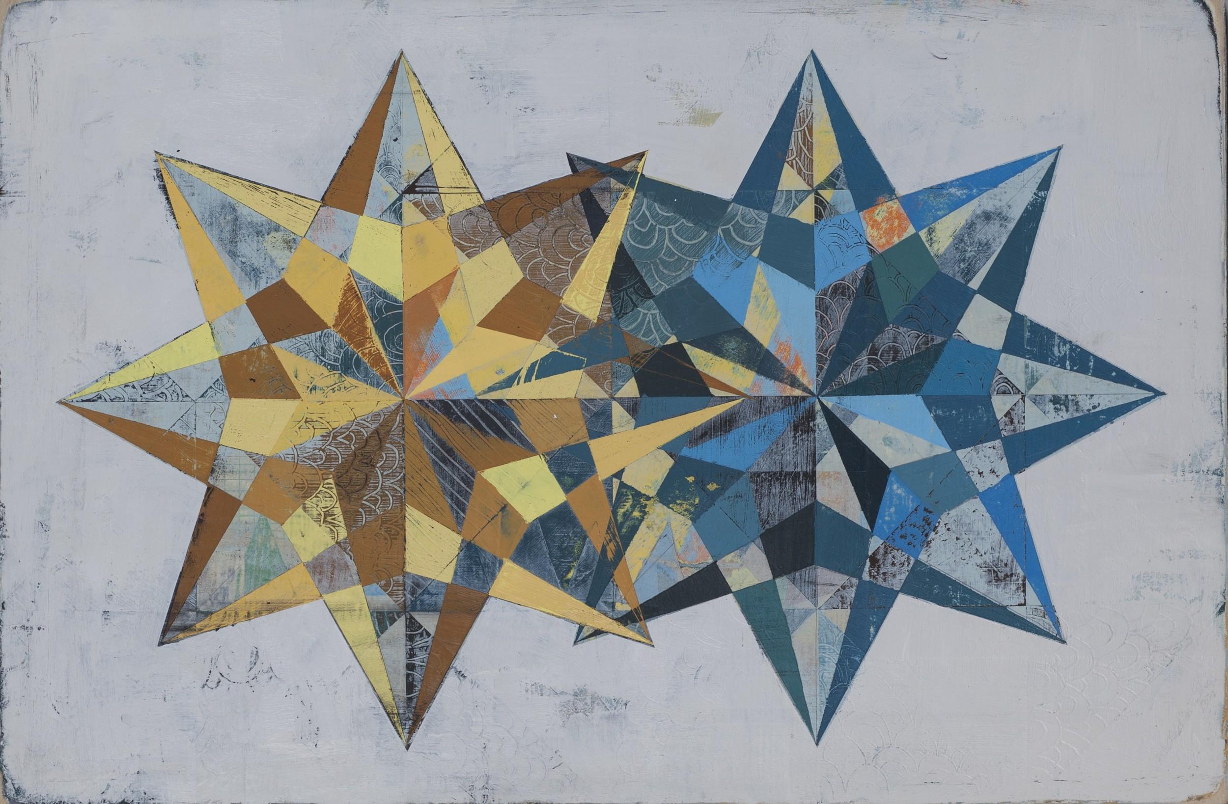 "Untitled, 12""x18"", acrylic on wood panel"