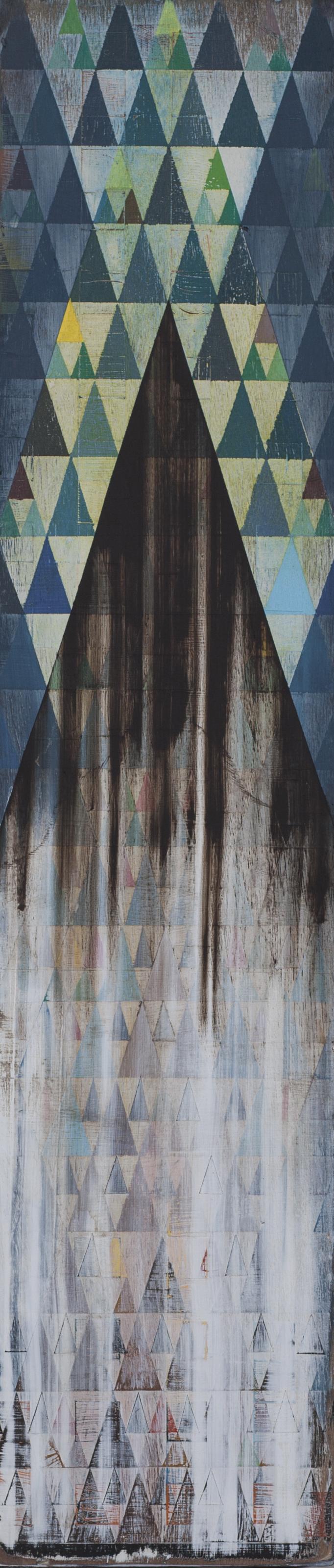 "Lost Coast, 9""x36"", acrylic on wood panel"