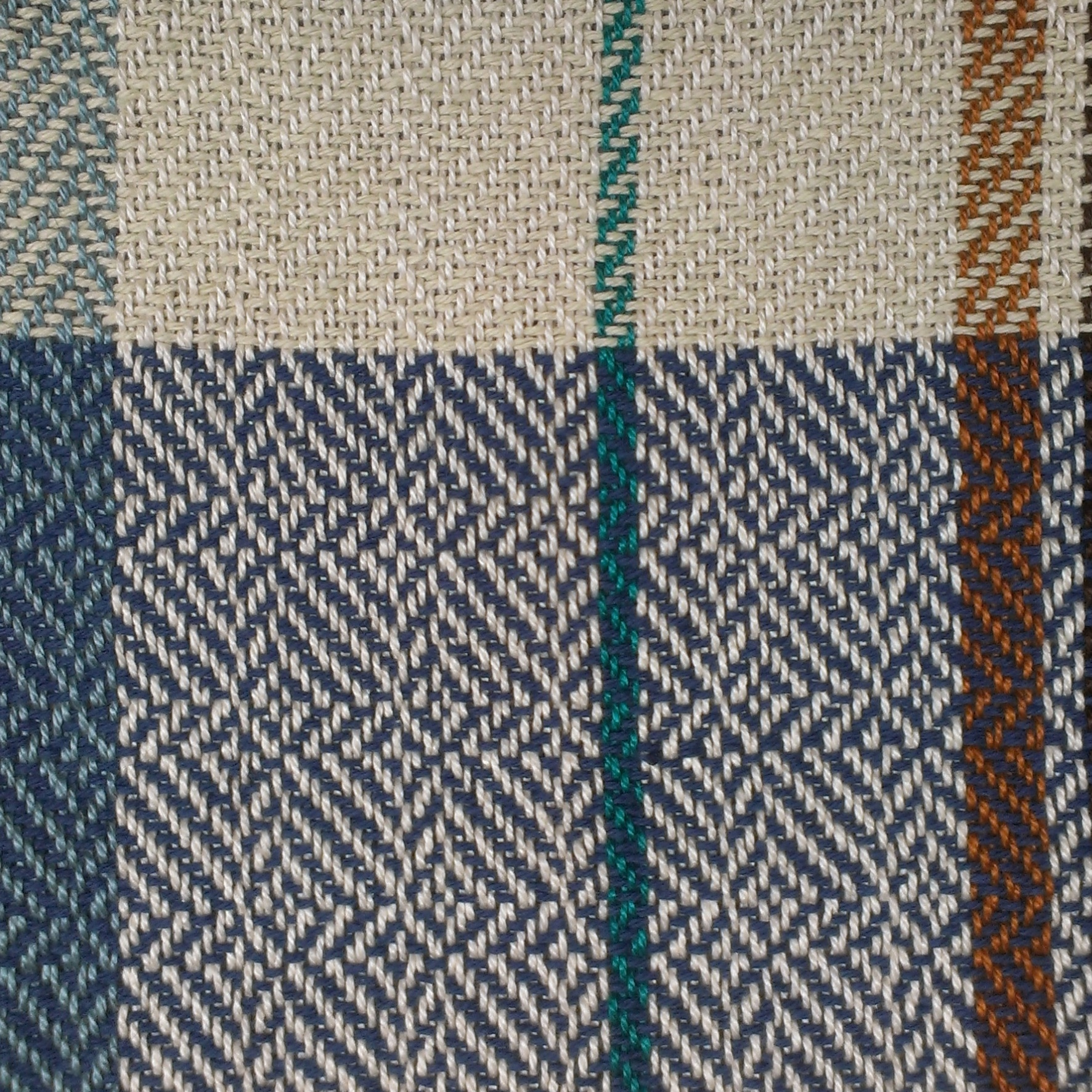 Lost at Sea (detail), 2014, handwoven cotton