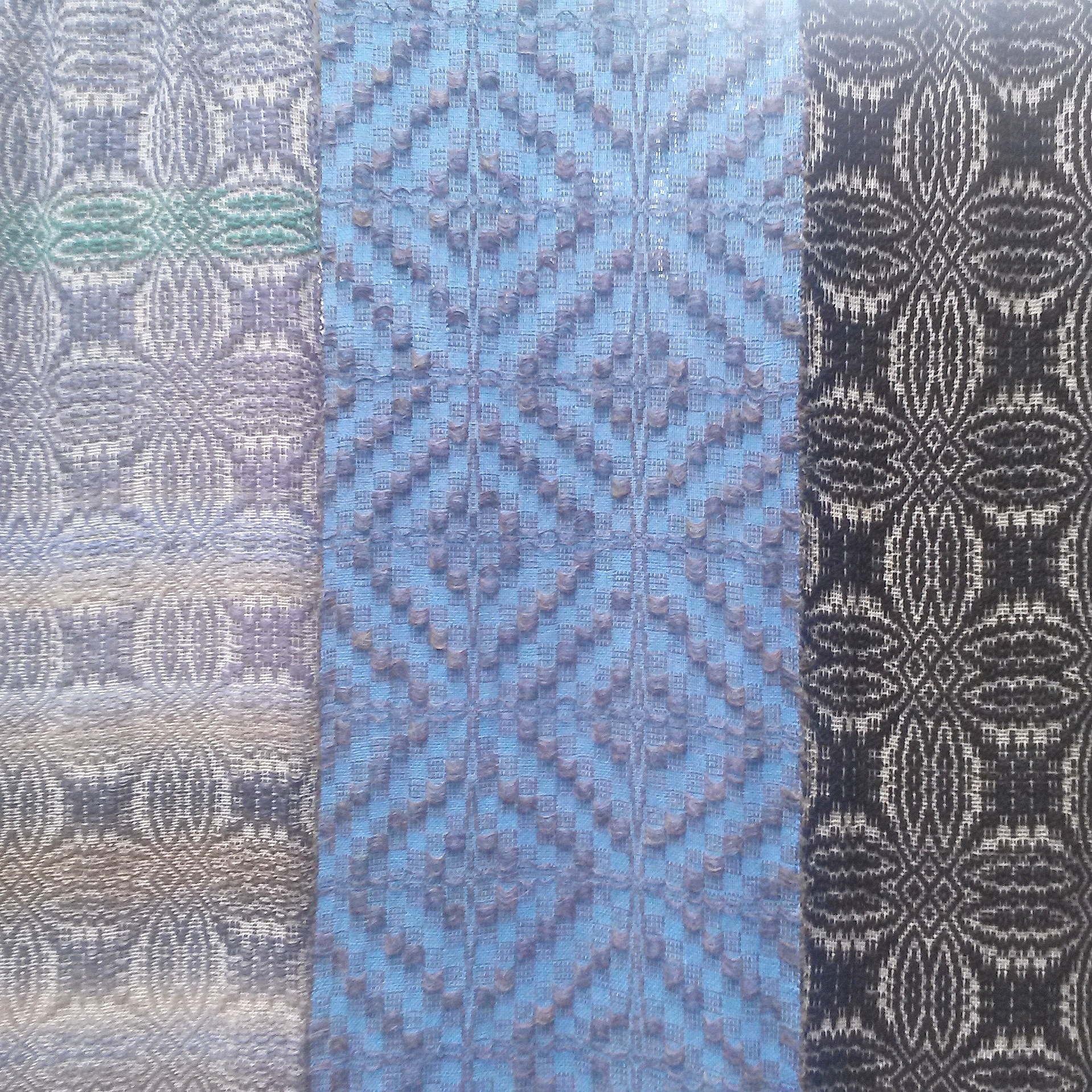 Handwoven cotton and wool
