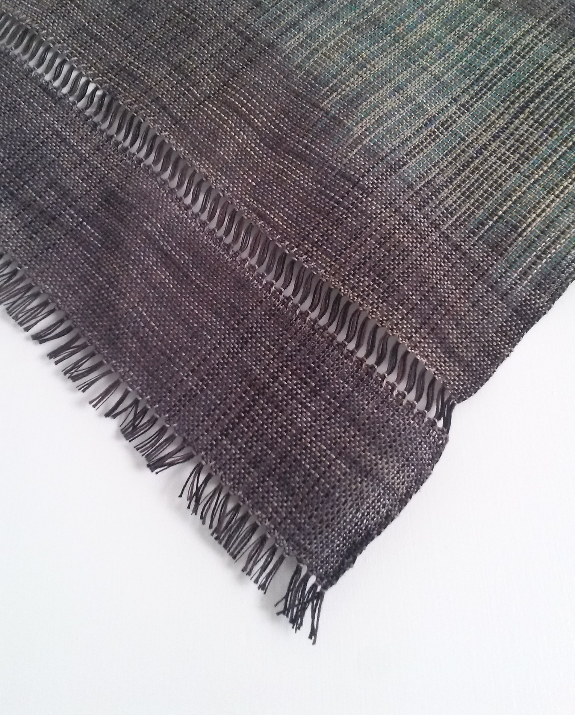 Negative Space, 2014, hand dyed, handwoven mixed fibers
