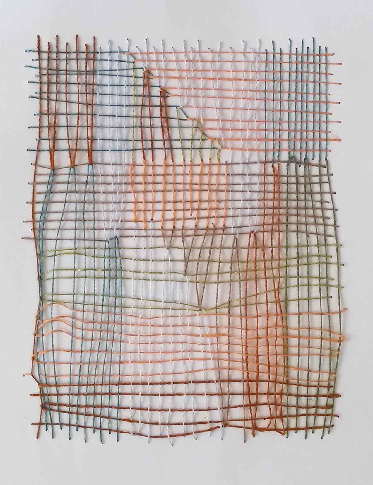 Mixed fibers on paper, 2015