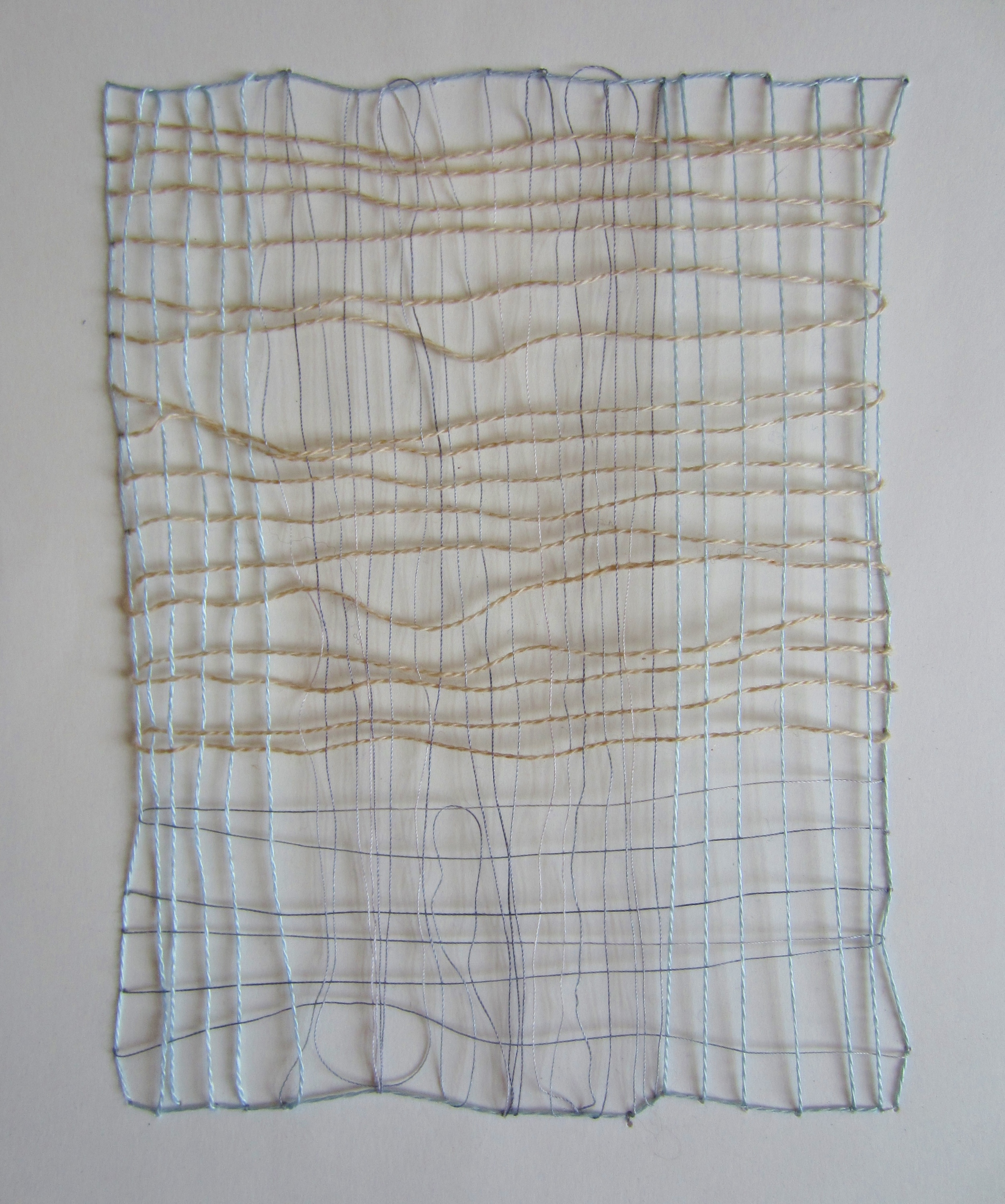 Tencel and cotton on paper, 2015