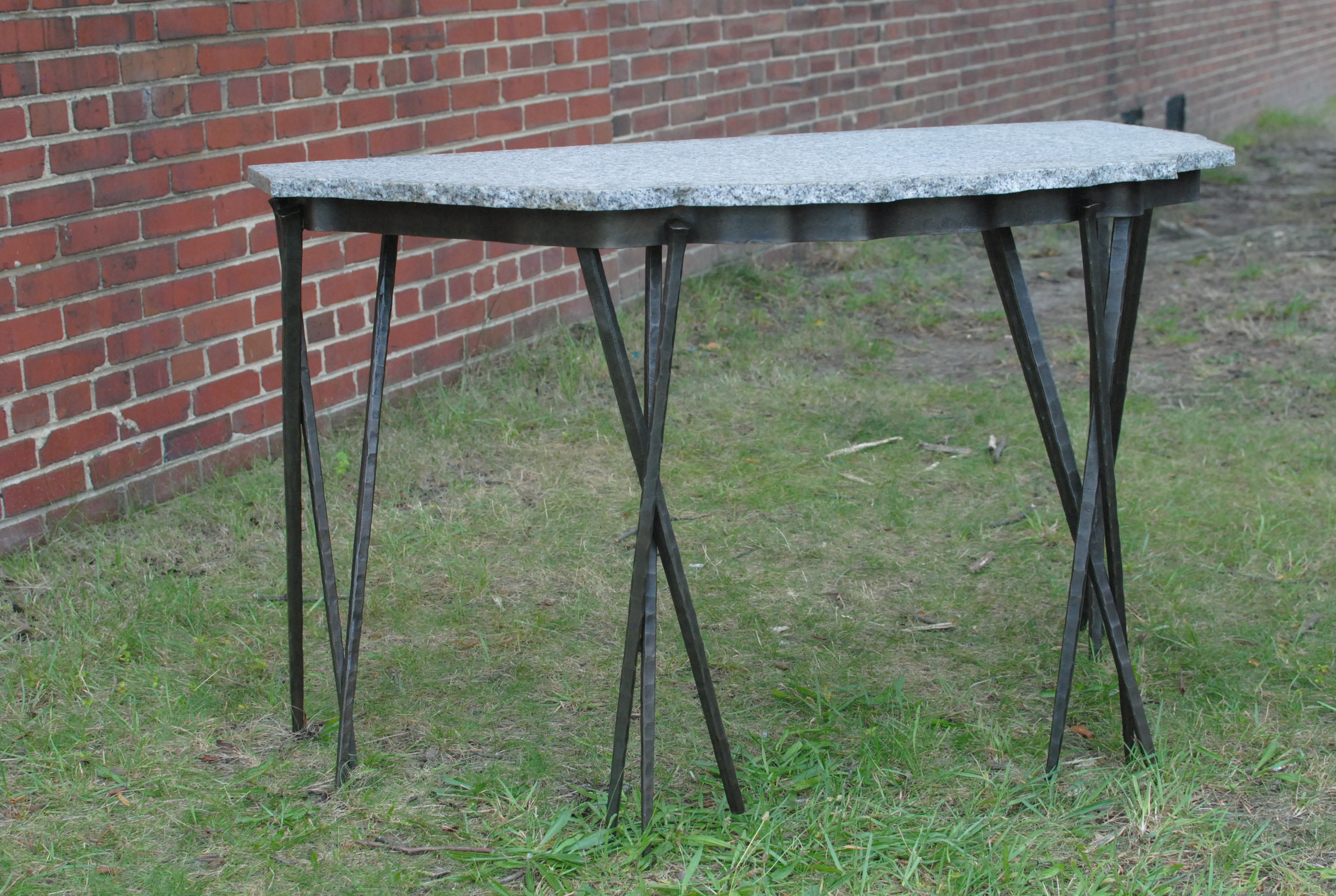 Hall Table with forged steel base