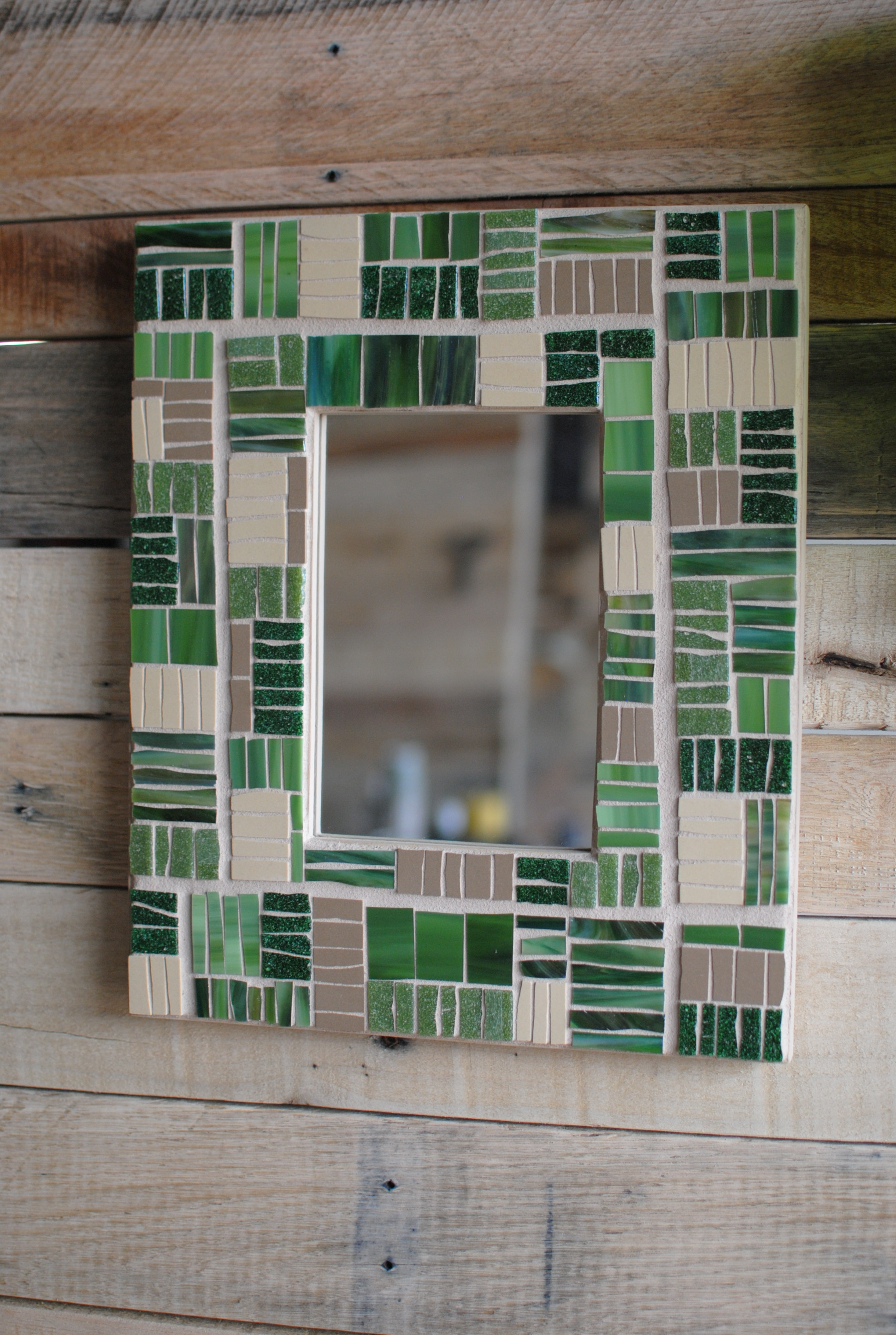 """""""Agriculture"""" mosaic mirror frame"""