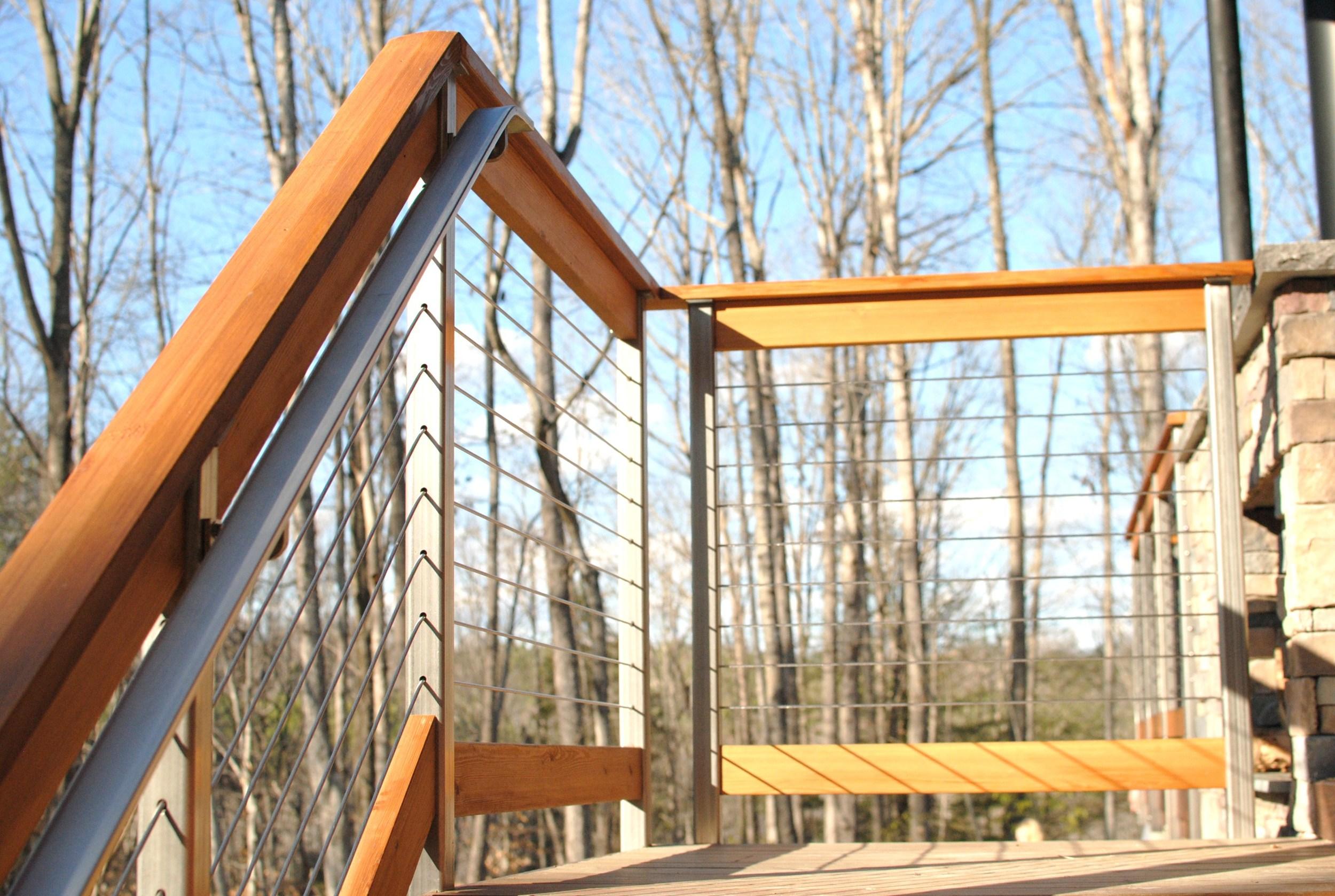 Deck stair rail detail