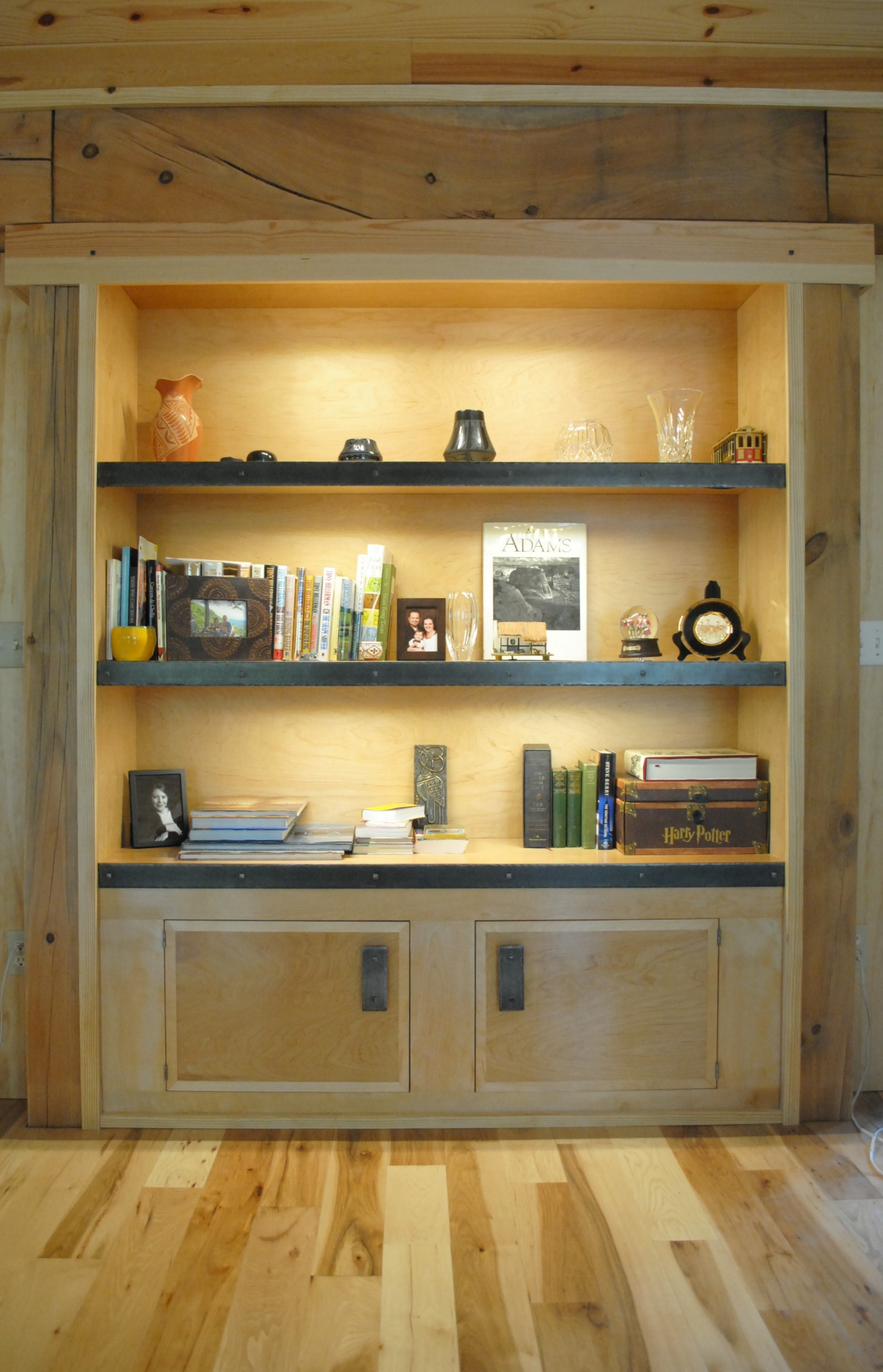 Built-in Bookcase & Cabinet
