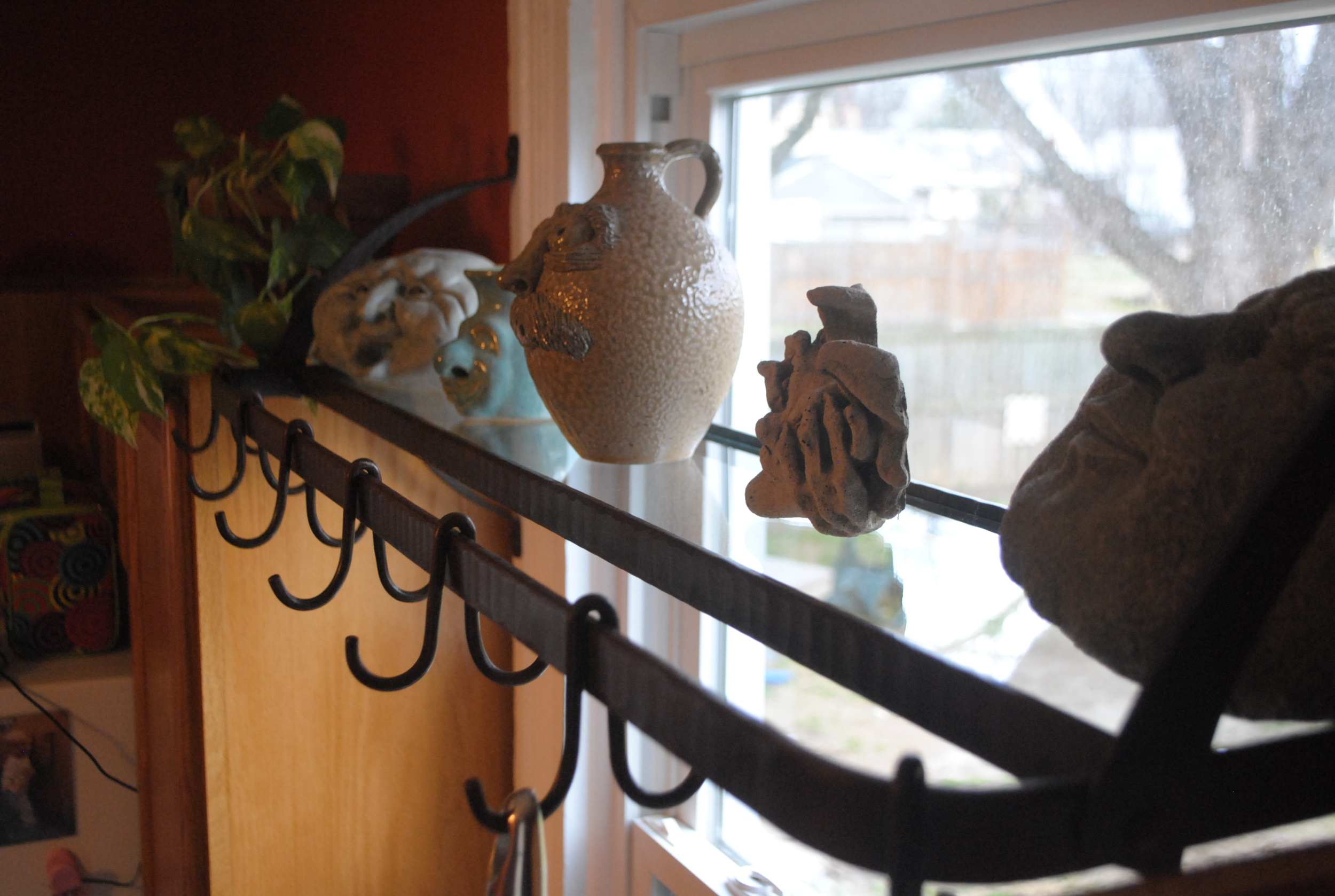 Window Pot Rack