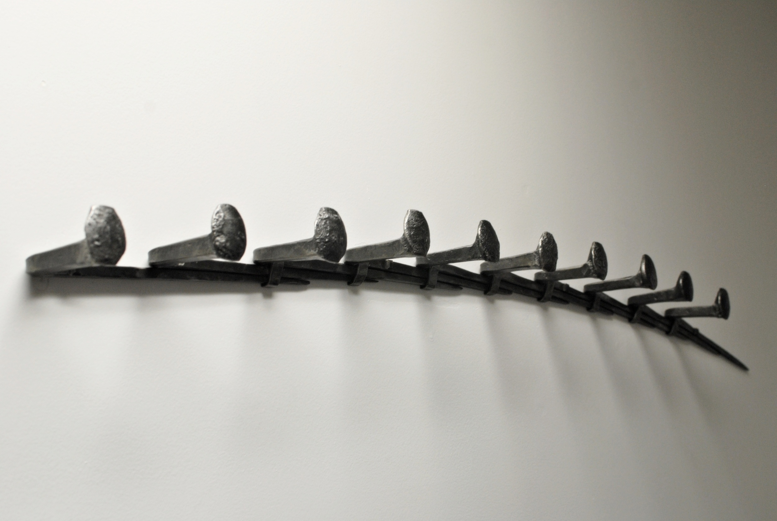 Forged Railroad Spike Coat Rack