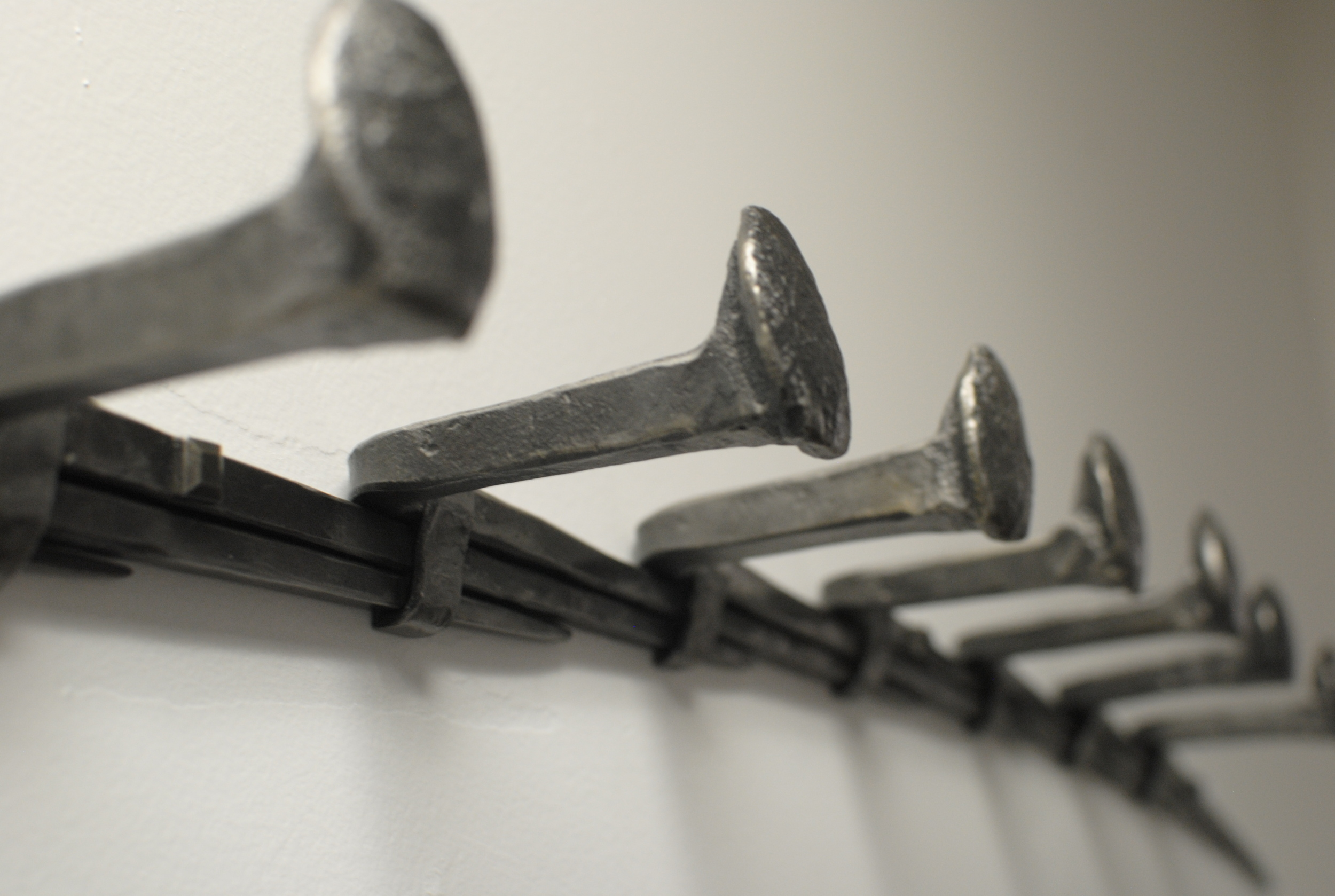 Railroad Spike Coat Rack detail