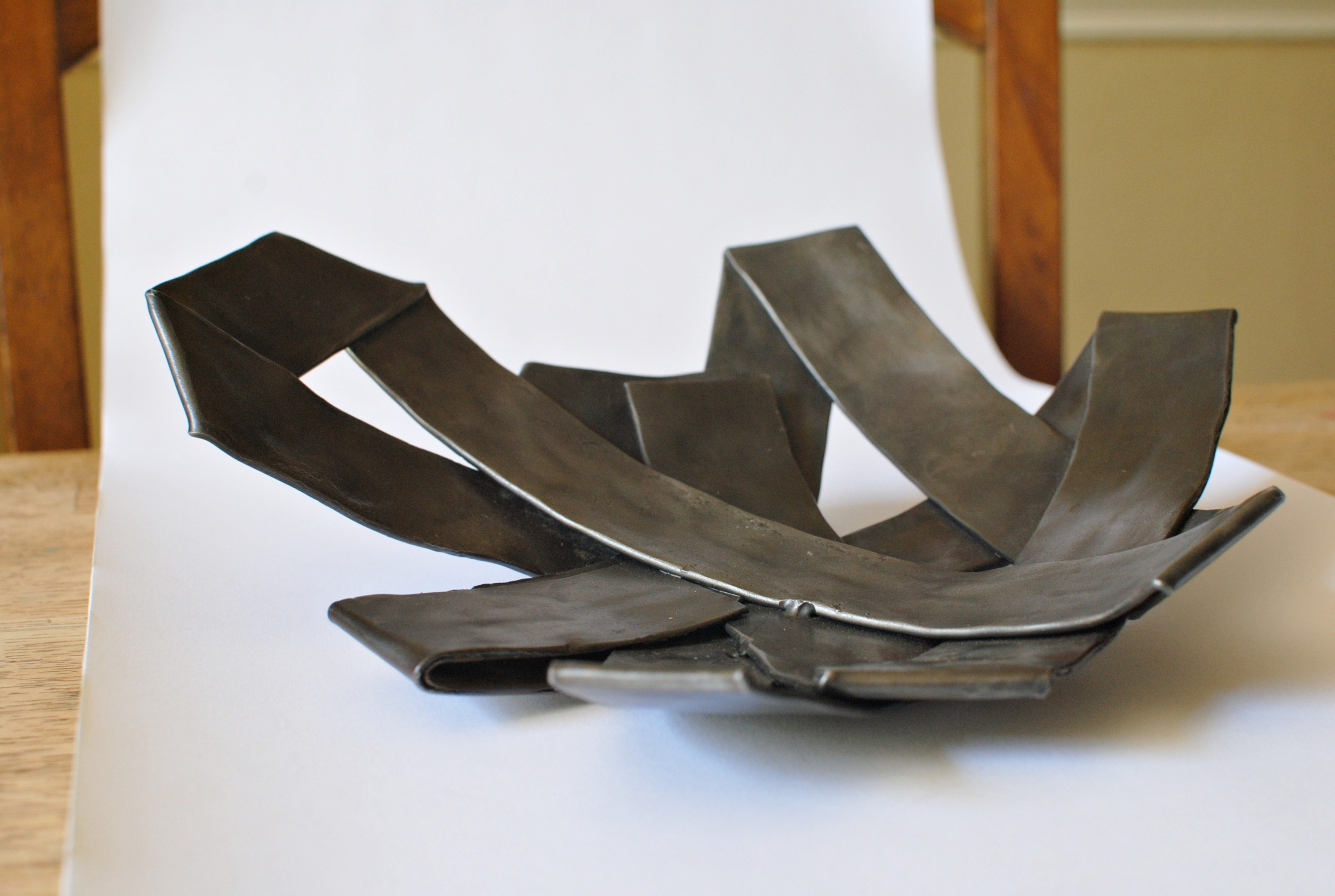 Decorative Folded Steel Bowl