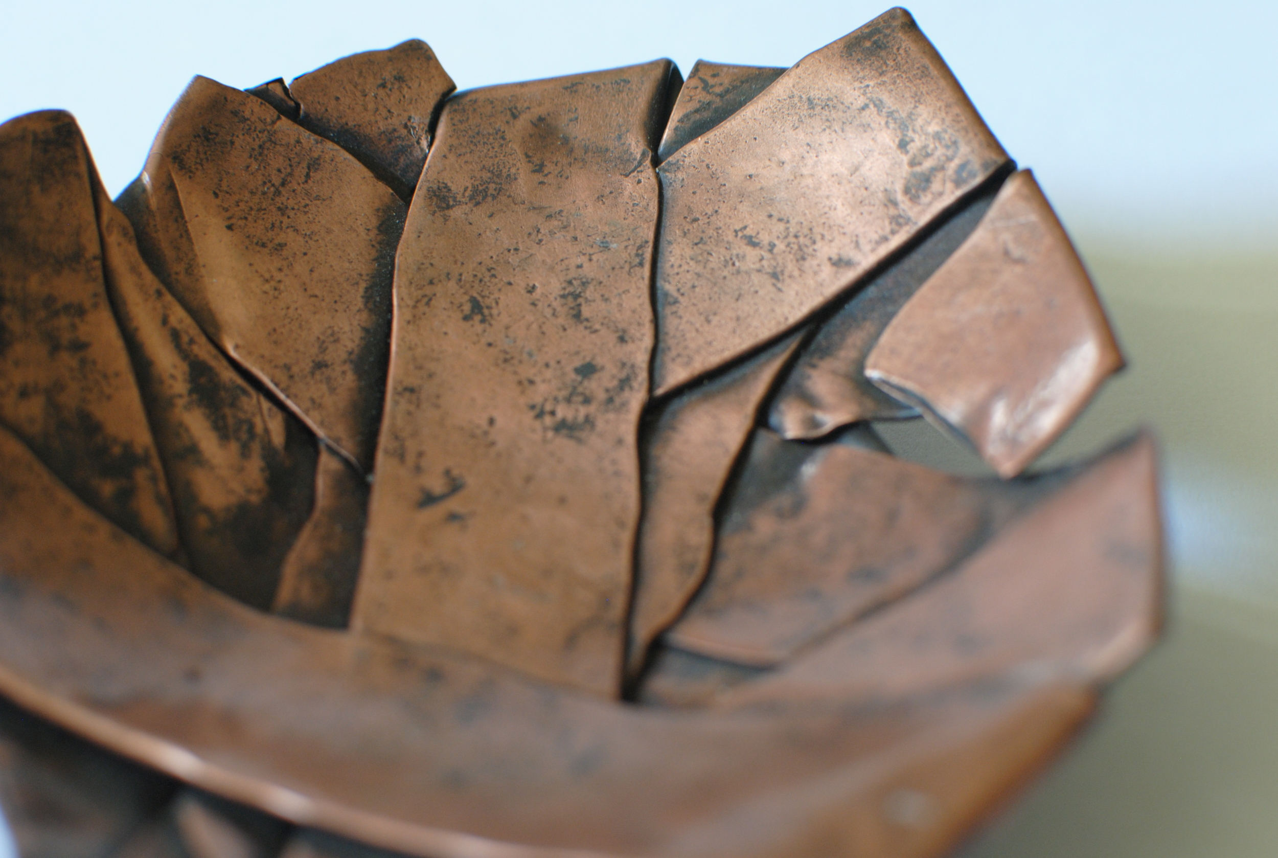 Decorative Folded Copper Bowl