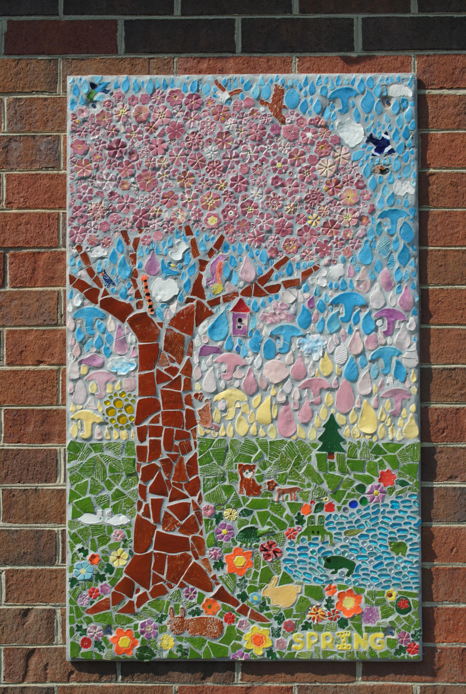 Spring mosaic panel