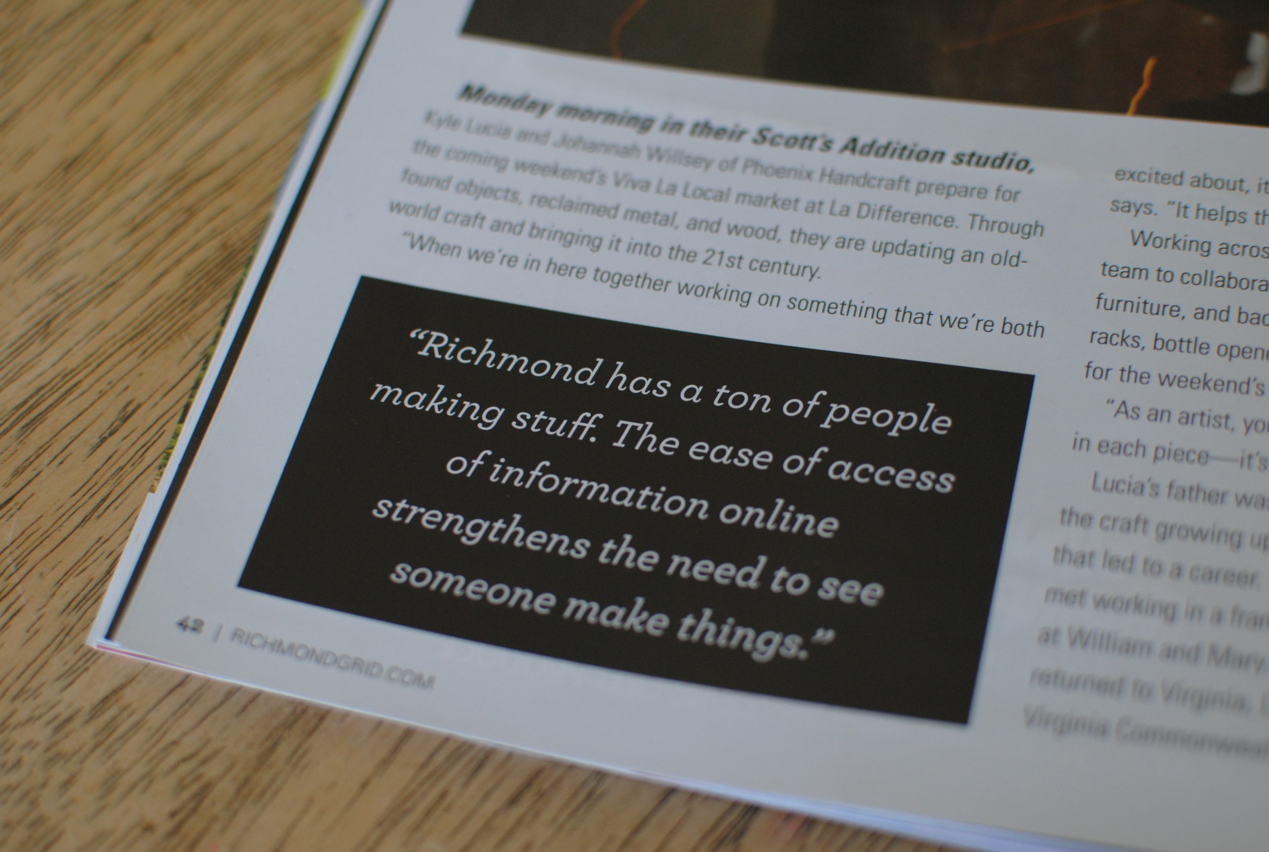 We even got a pull out quote in the article! Add that to the Phoenix Handcraft baby book of firsts.