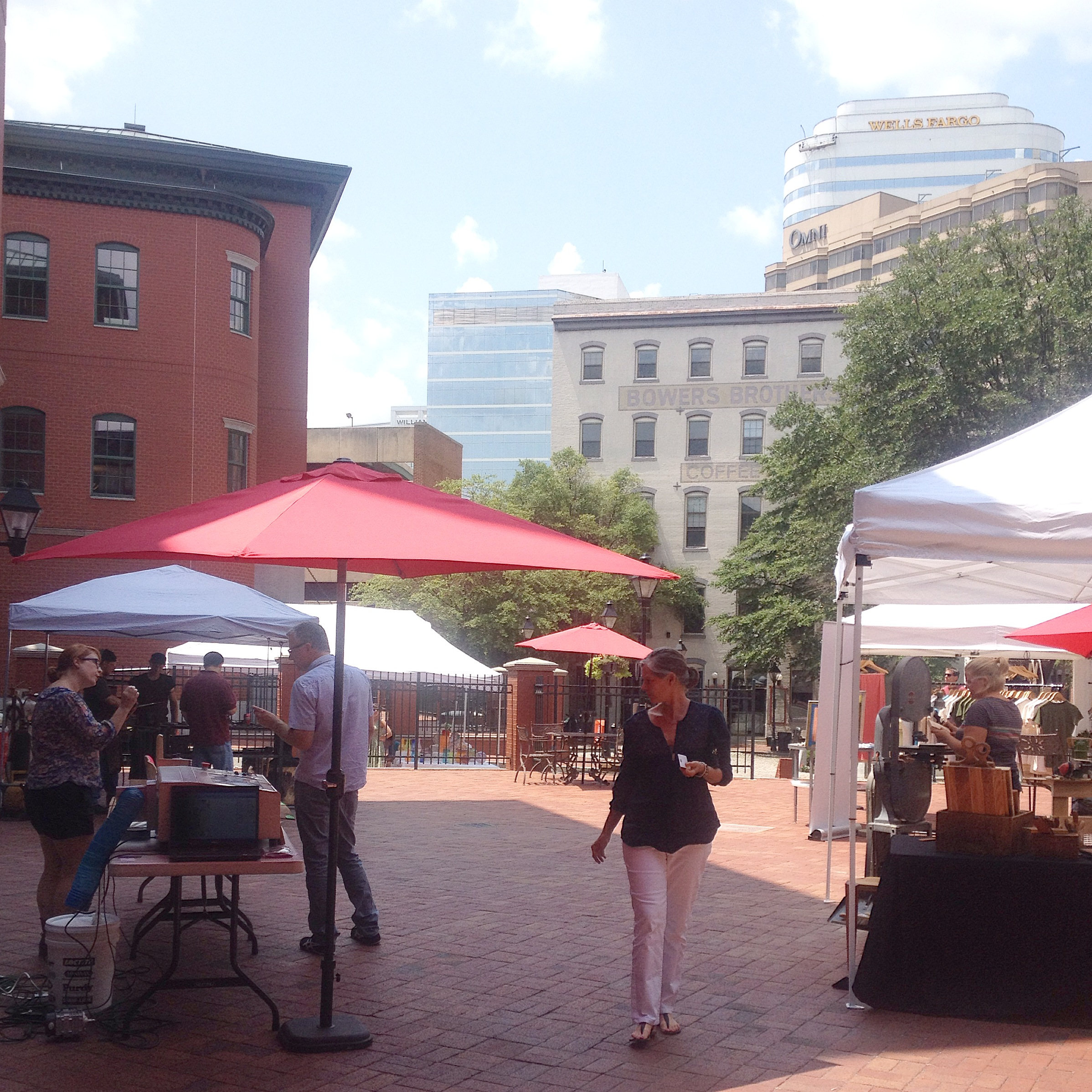 The Maker Fest was held on a hot but beautiful day in the  historic Shockoe Slip  area of downtown Richmond.
