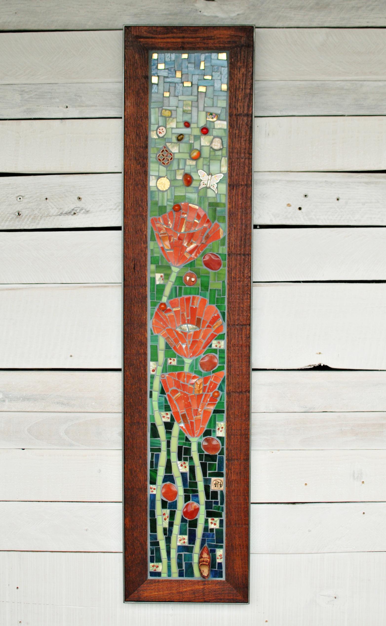"""Poppies"" mosaic"