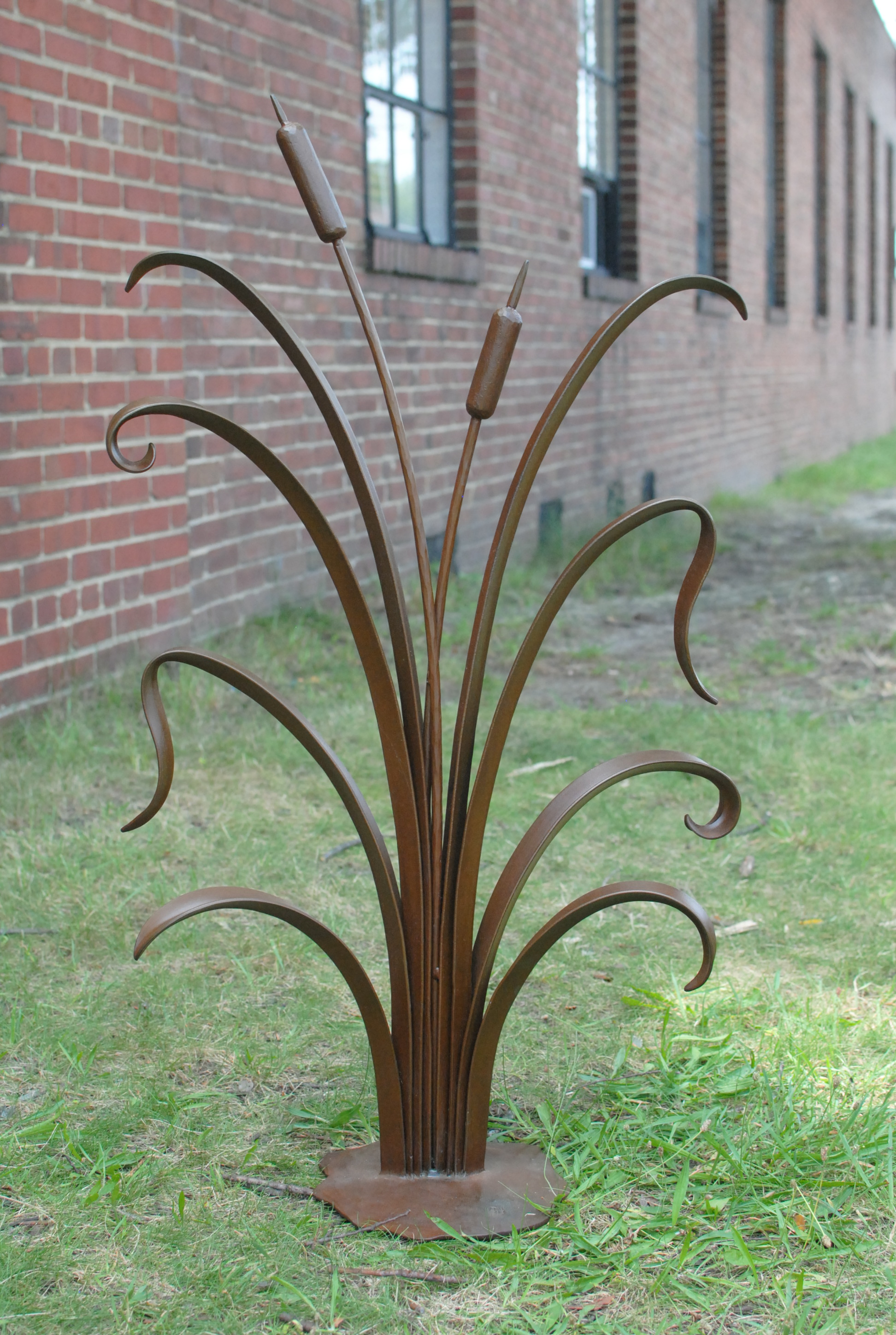 Cat Tail Garden Sculpture