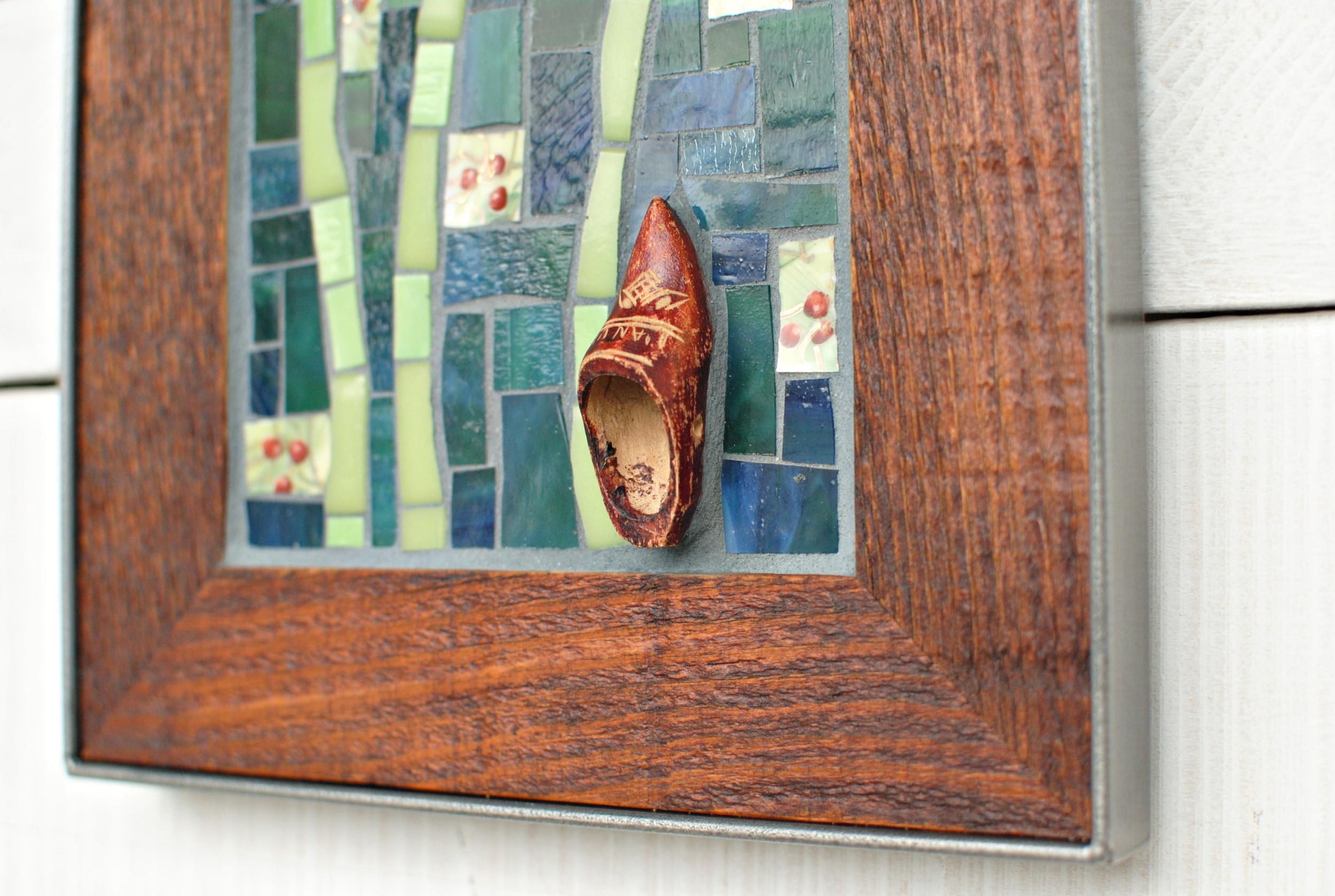 Mosaic poppies shoe detail PH2014.JPG