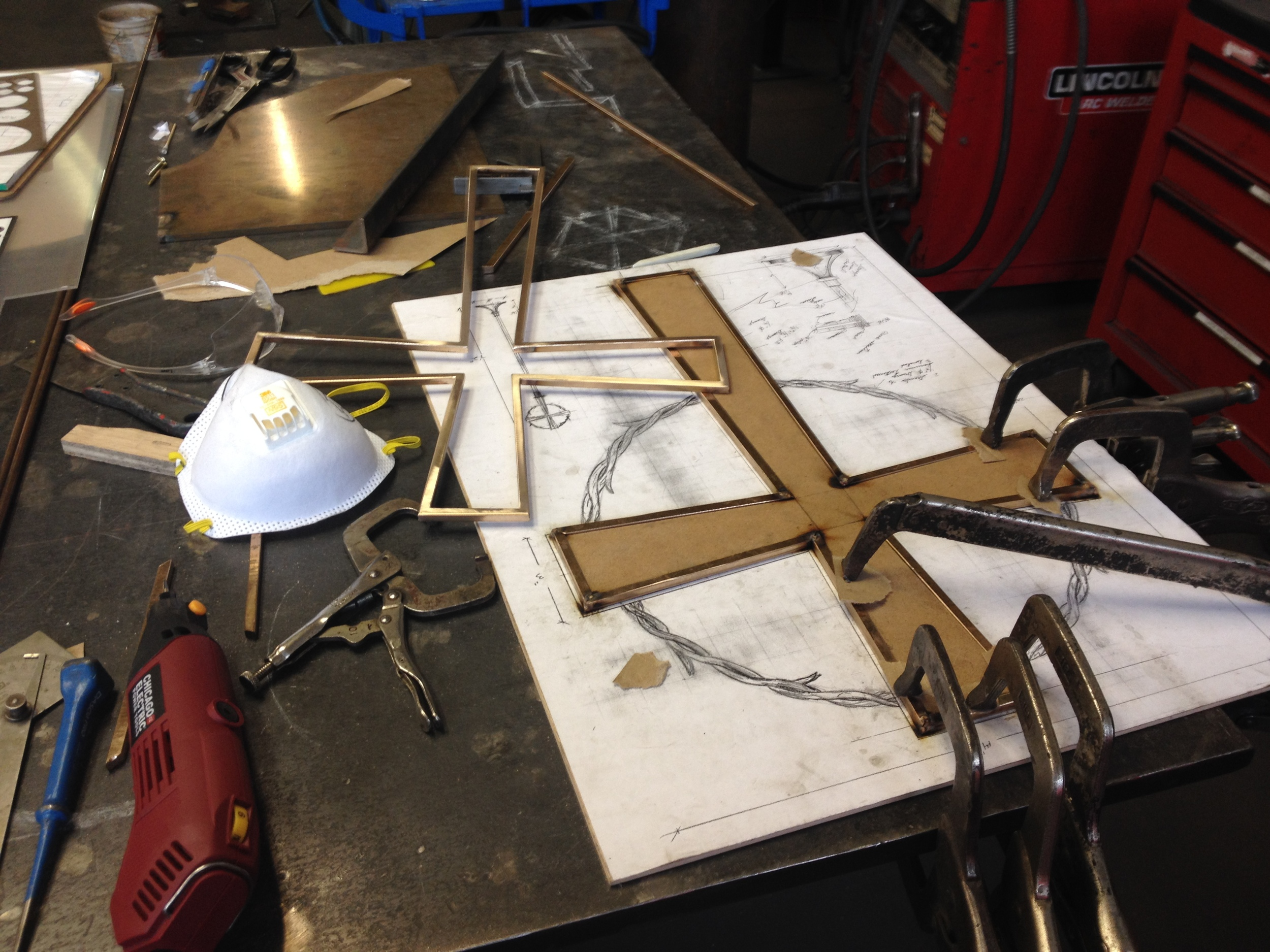 Bronze cross in process 1 PH2015.JPG