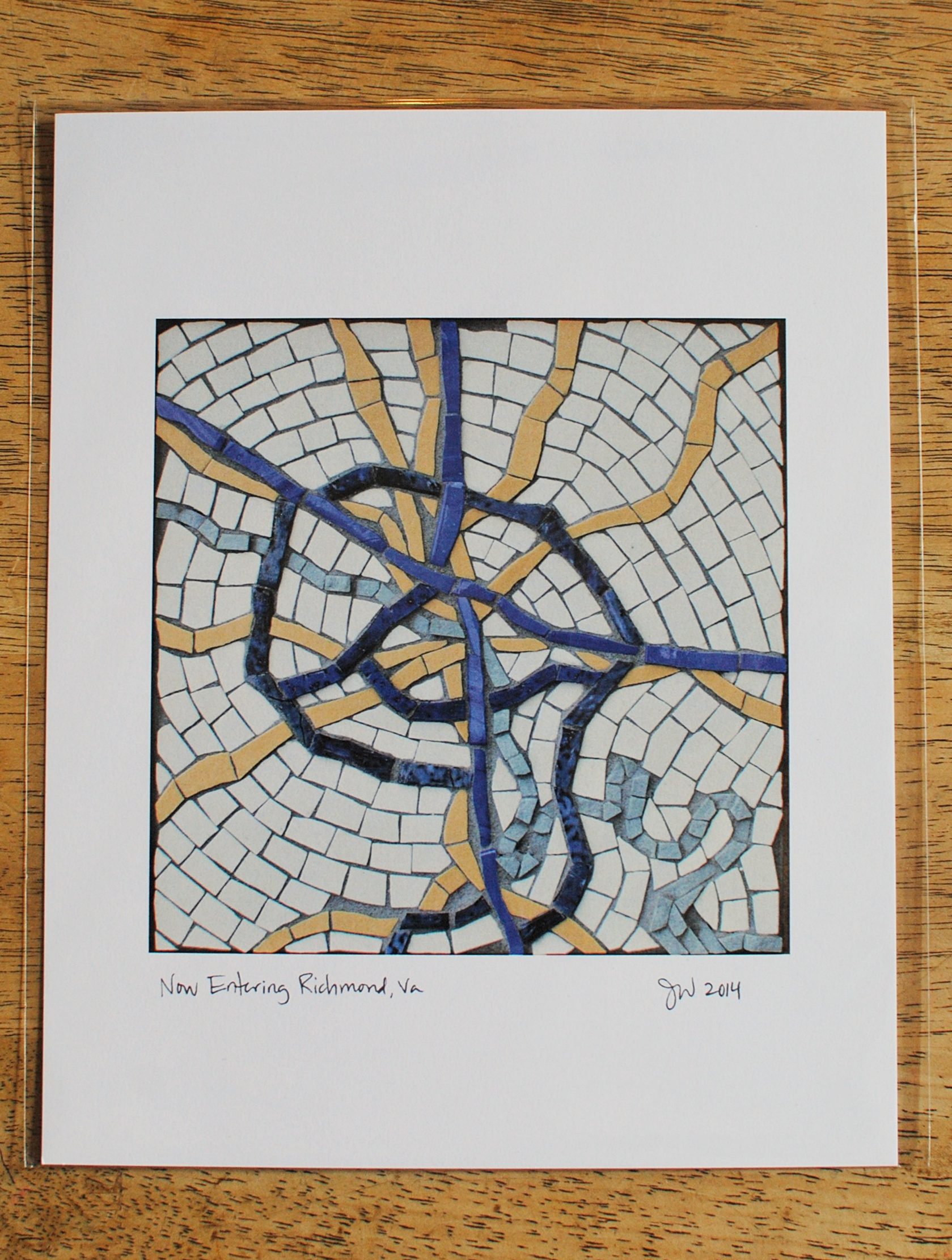 Richmond, Virginia mosaic map print