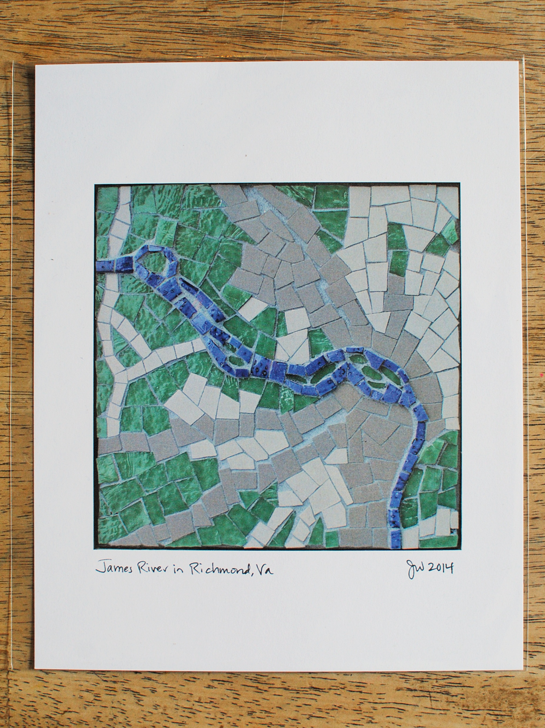 James River in Richmond, Virginia mosaic map print