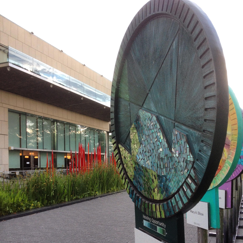 Custom mosaic on display at Virginia Museum of Fine Arts