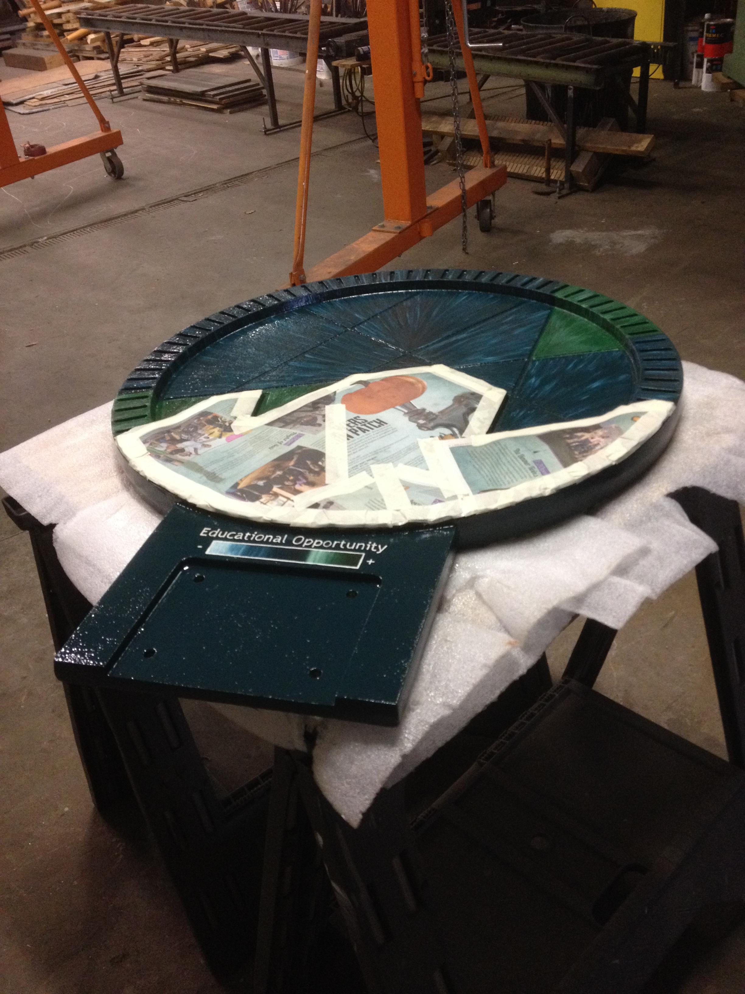 Custom sculptural mosaic in progress