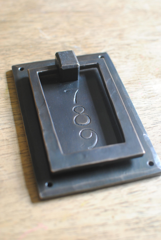 Custom bronze door knocker