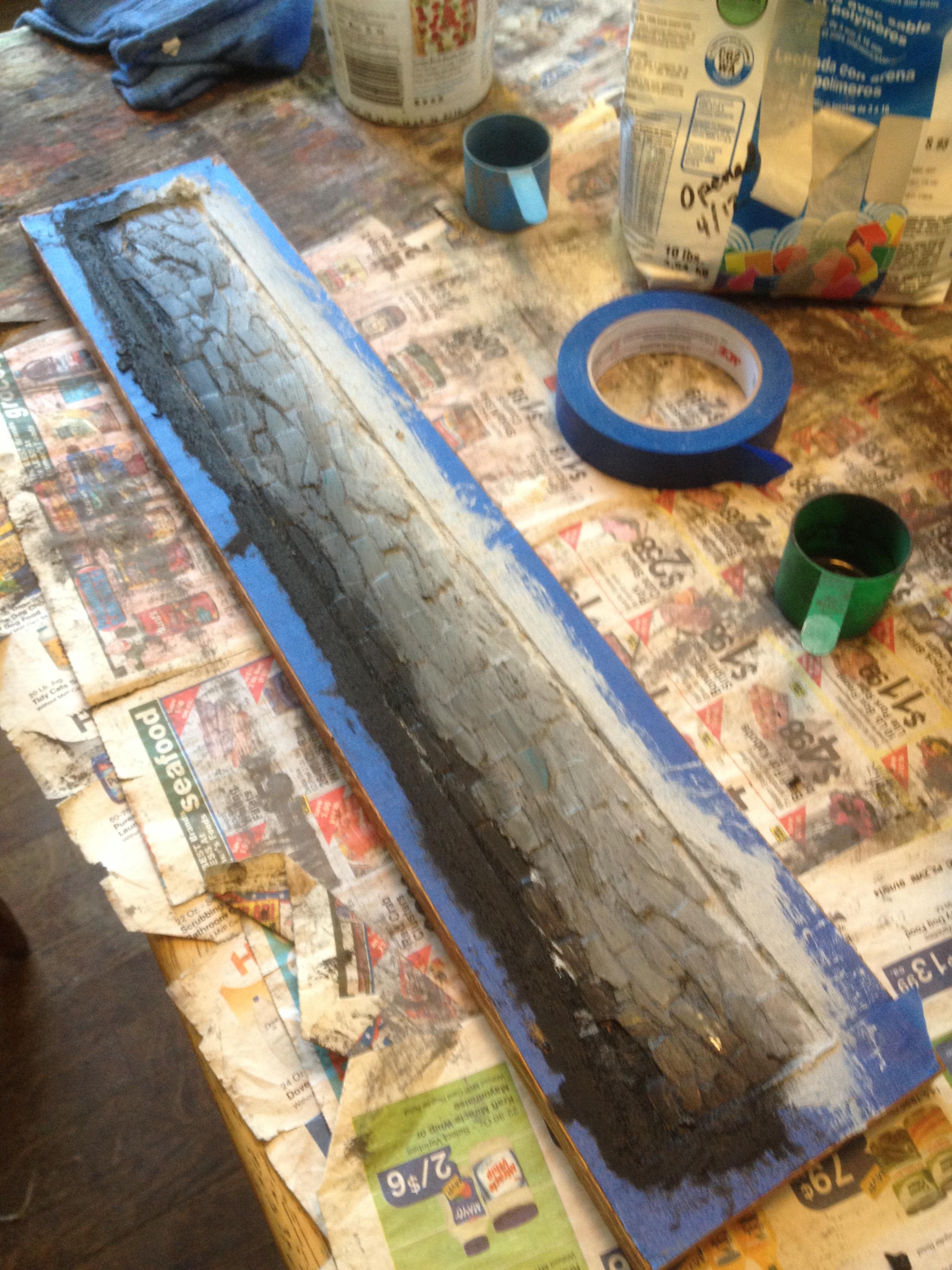 Custom Blue Ridge mountain mosaic in progress