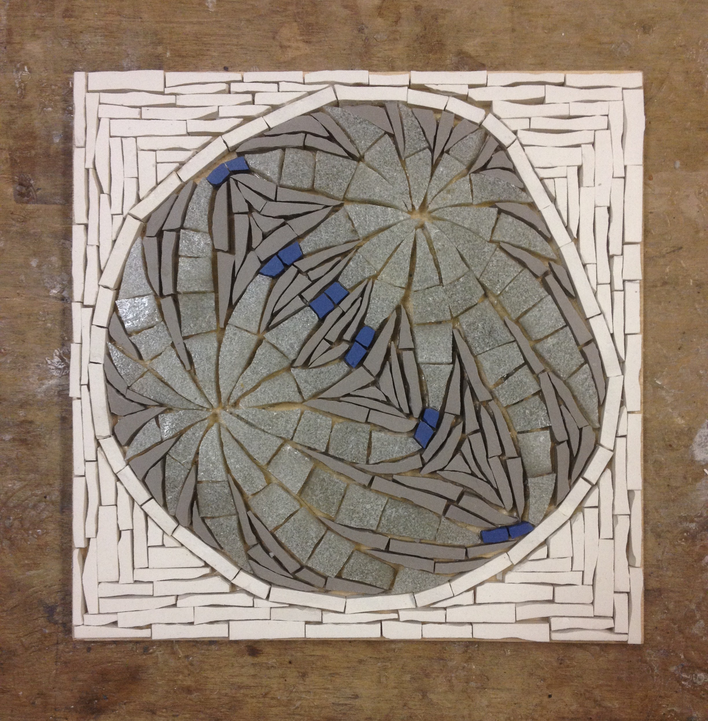 Biology inspired mosaic in progress