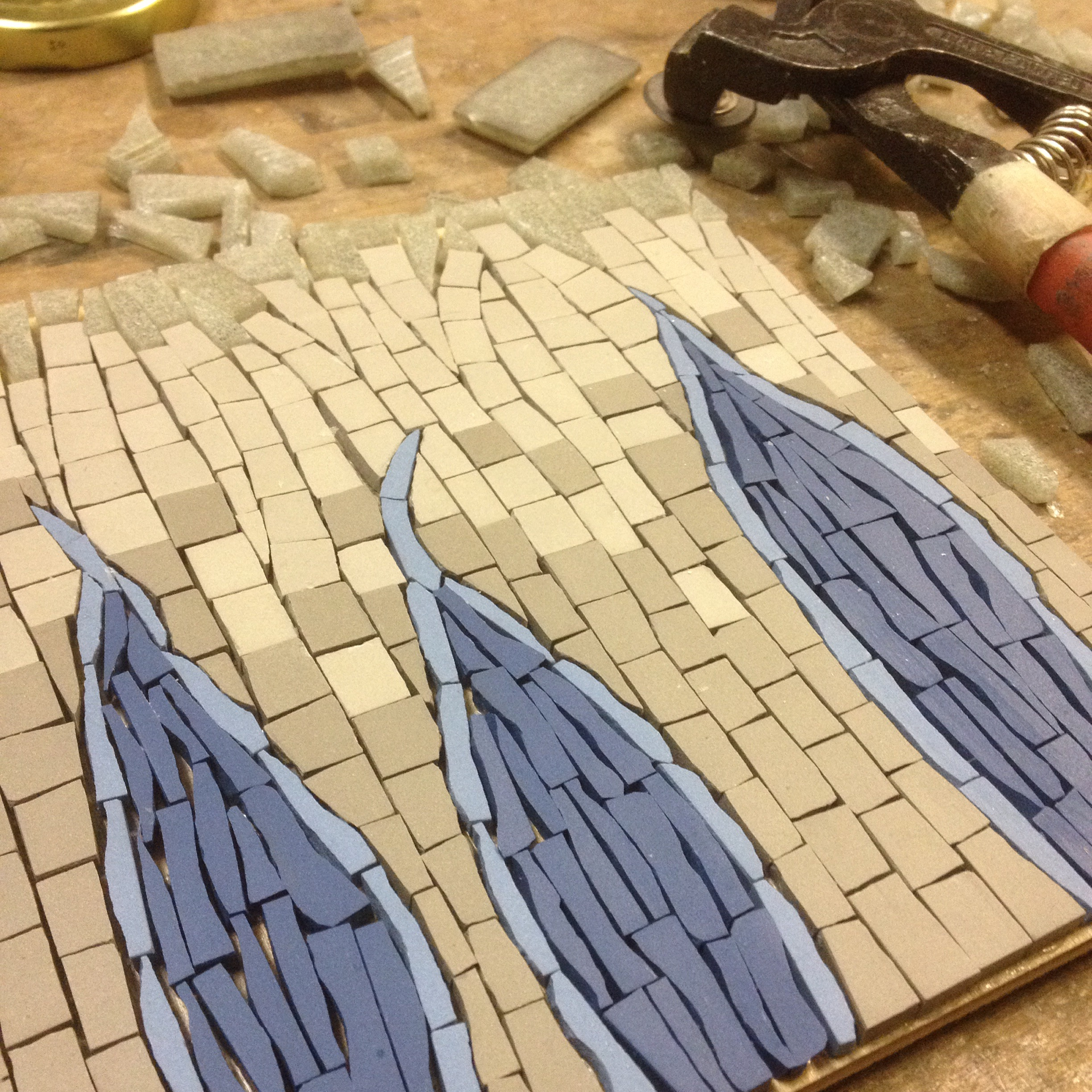 Science inspired mosaic in progress