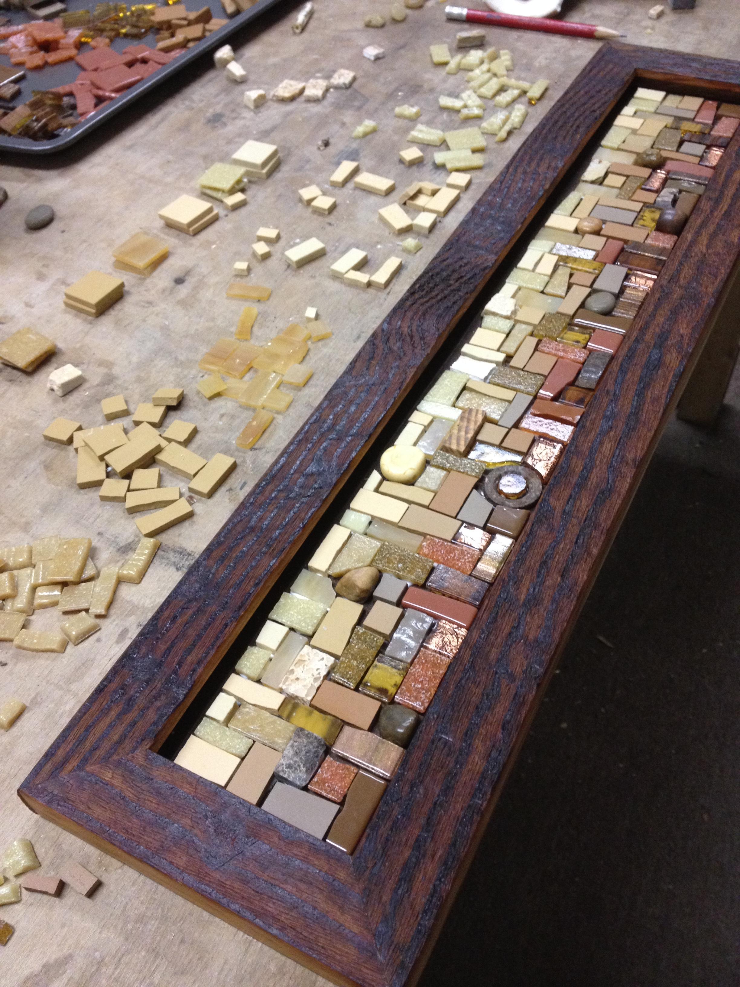 Making a mosaic coat rack