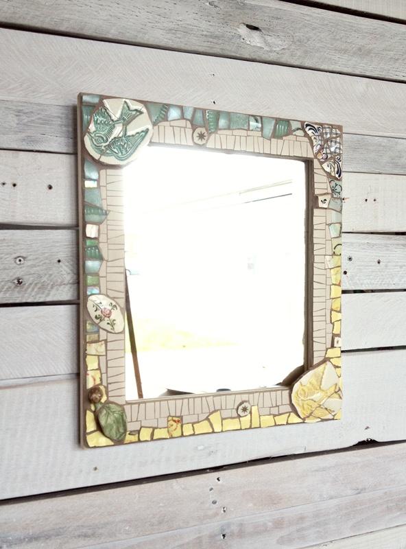 Custom mirror made from client's memorabilia